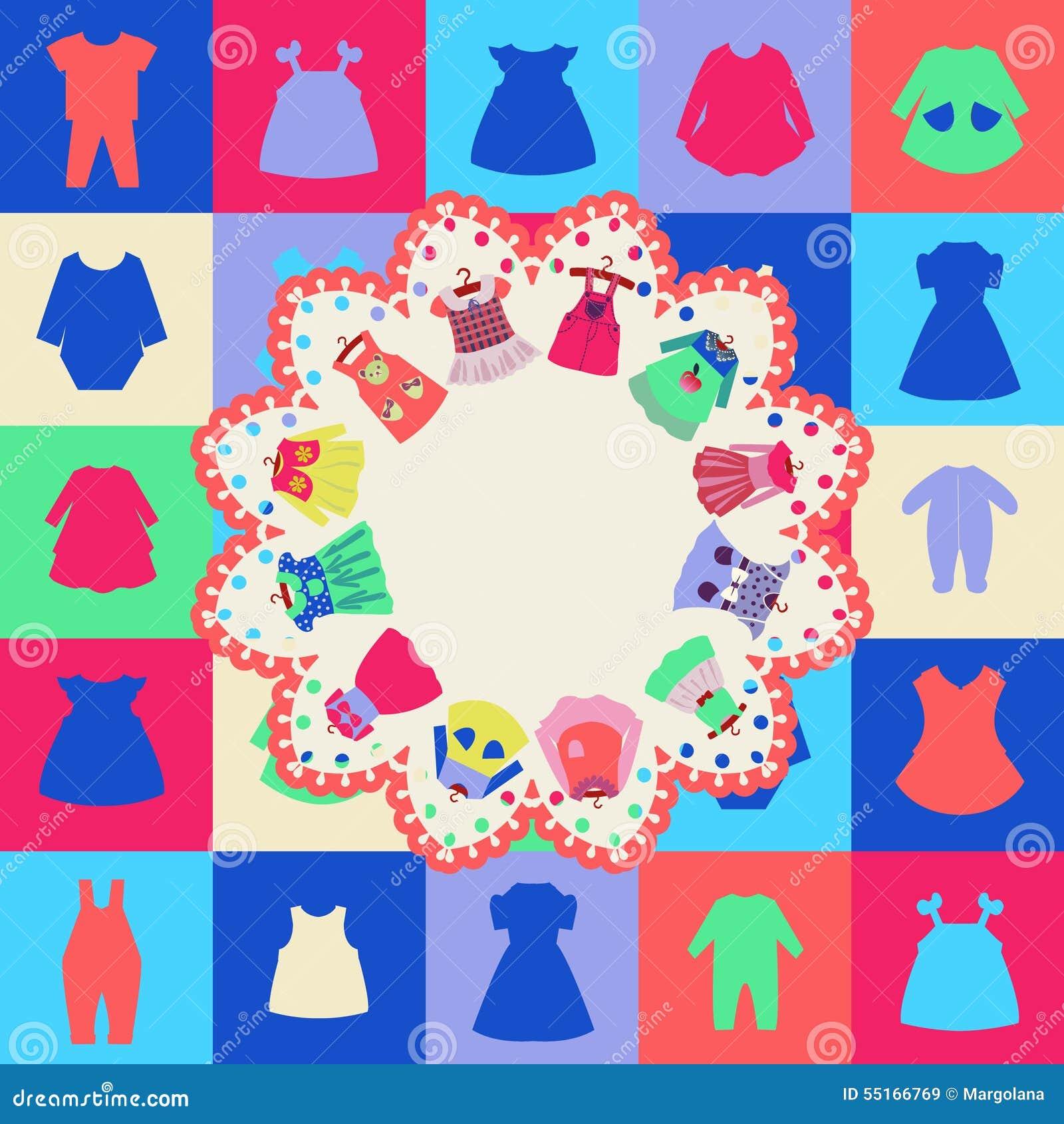Fondo De Los Vestidos De La Muchacha De La Moda Ropa Para