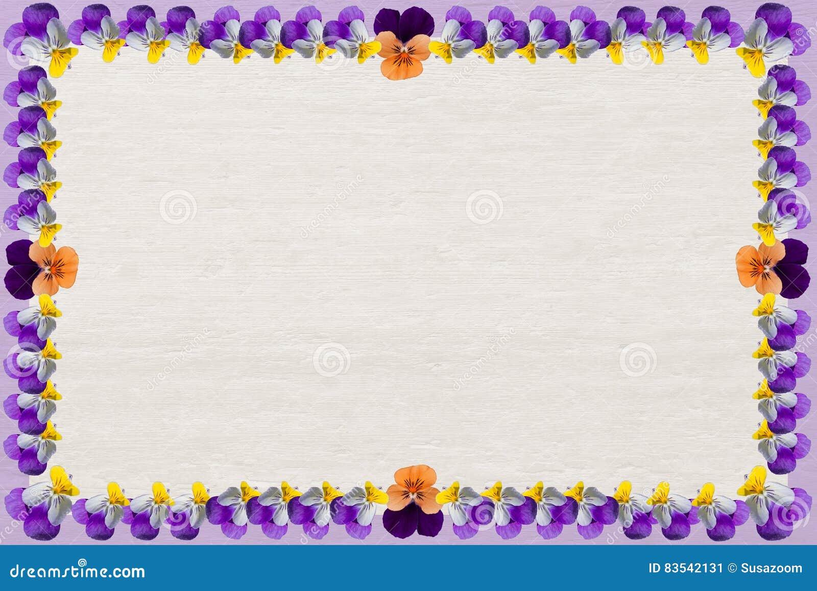 Fondo de madera con el marco de las violas