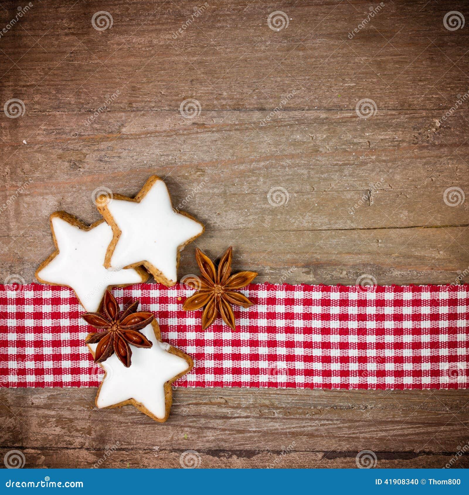 Fondo de madera con las galletas