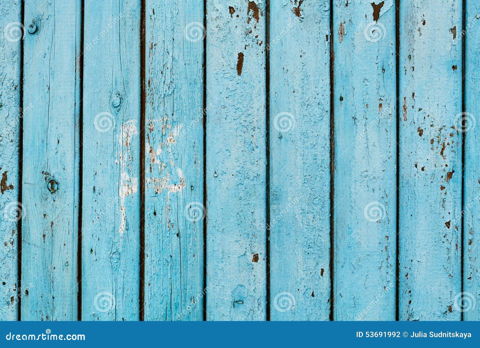 Fondo de madera del tablero azul vintage foto
