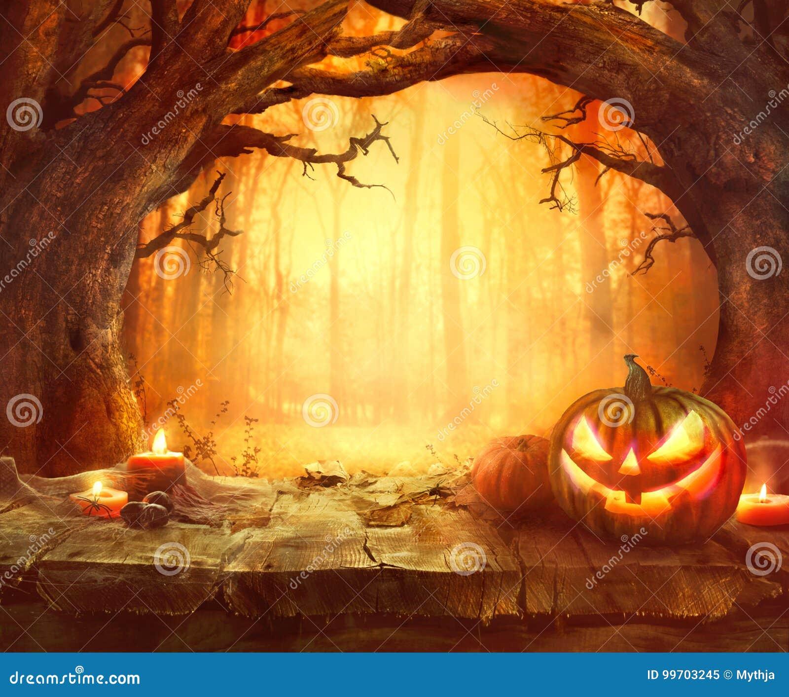 Fondo de madera para Halloween