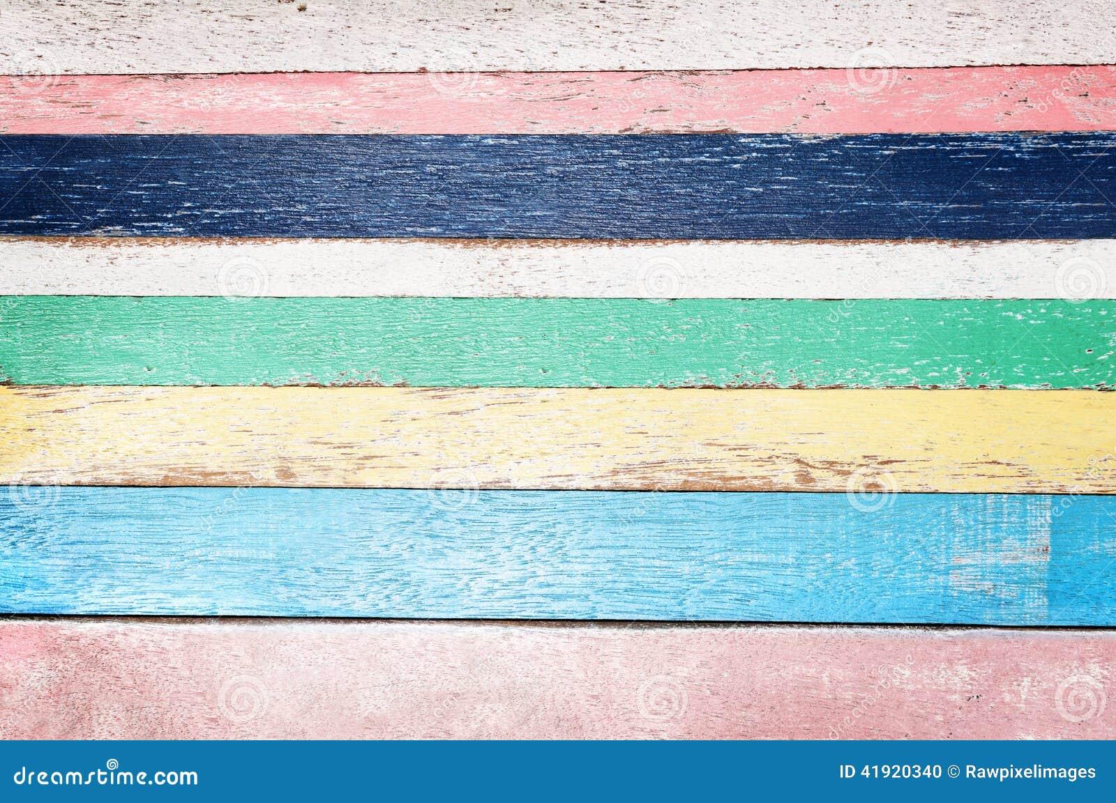 Fondo de madera vacío colorido del tablón