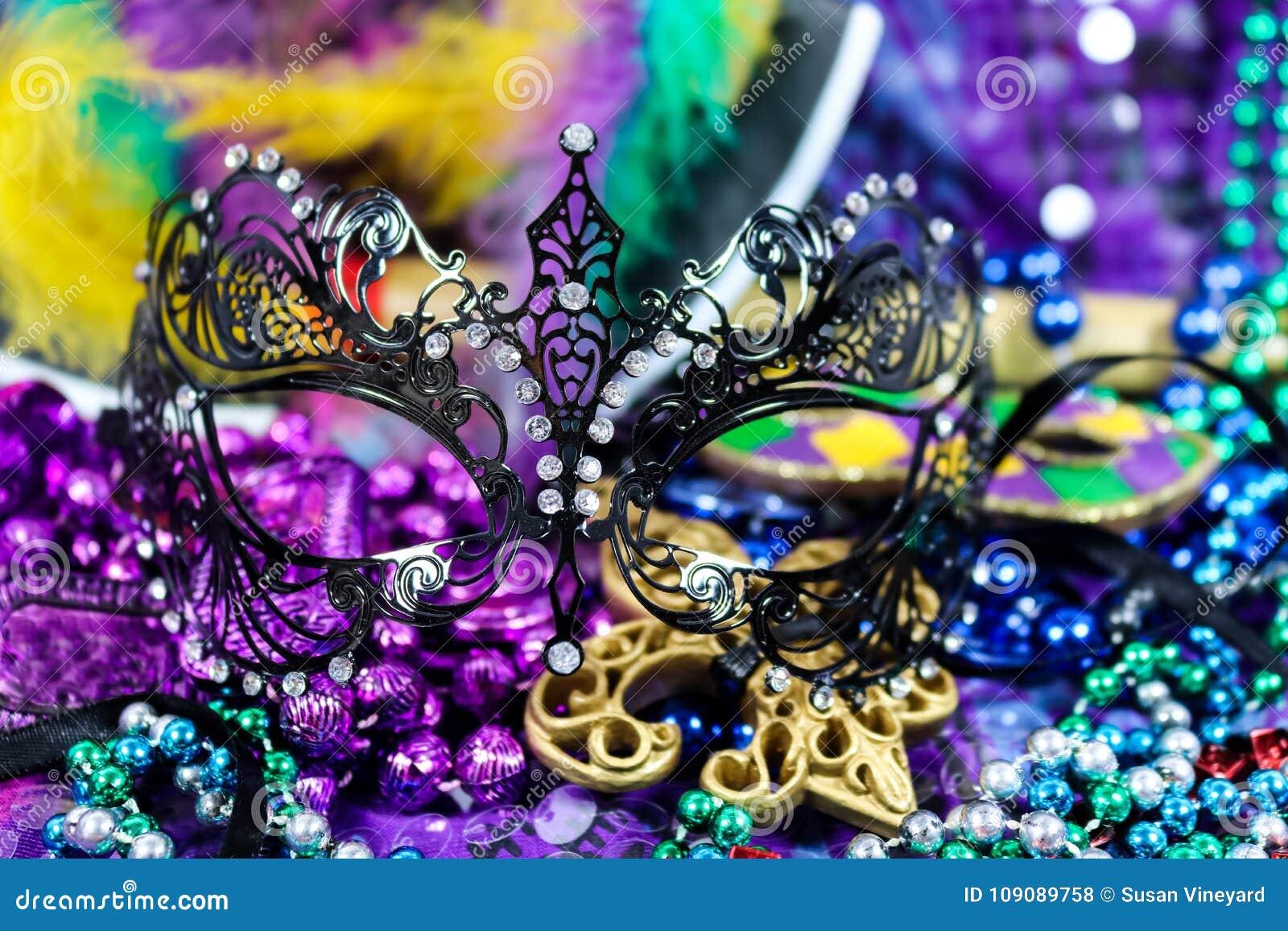 Fondo De Mardi Gras Carnaval - Colores Hermosos Brillantes Con La ...