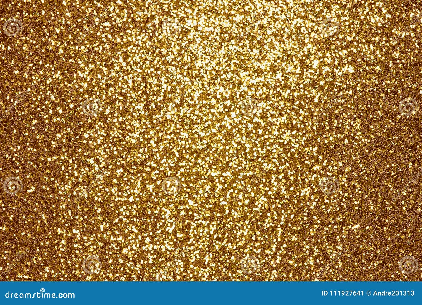 Fondo de oro chispeante de la materia textil de la lentejuela