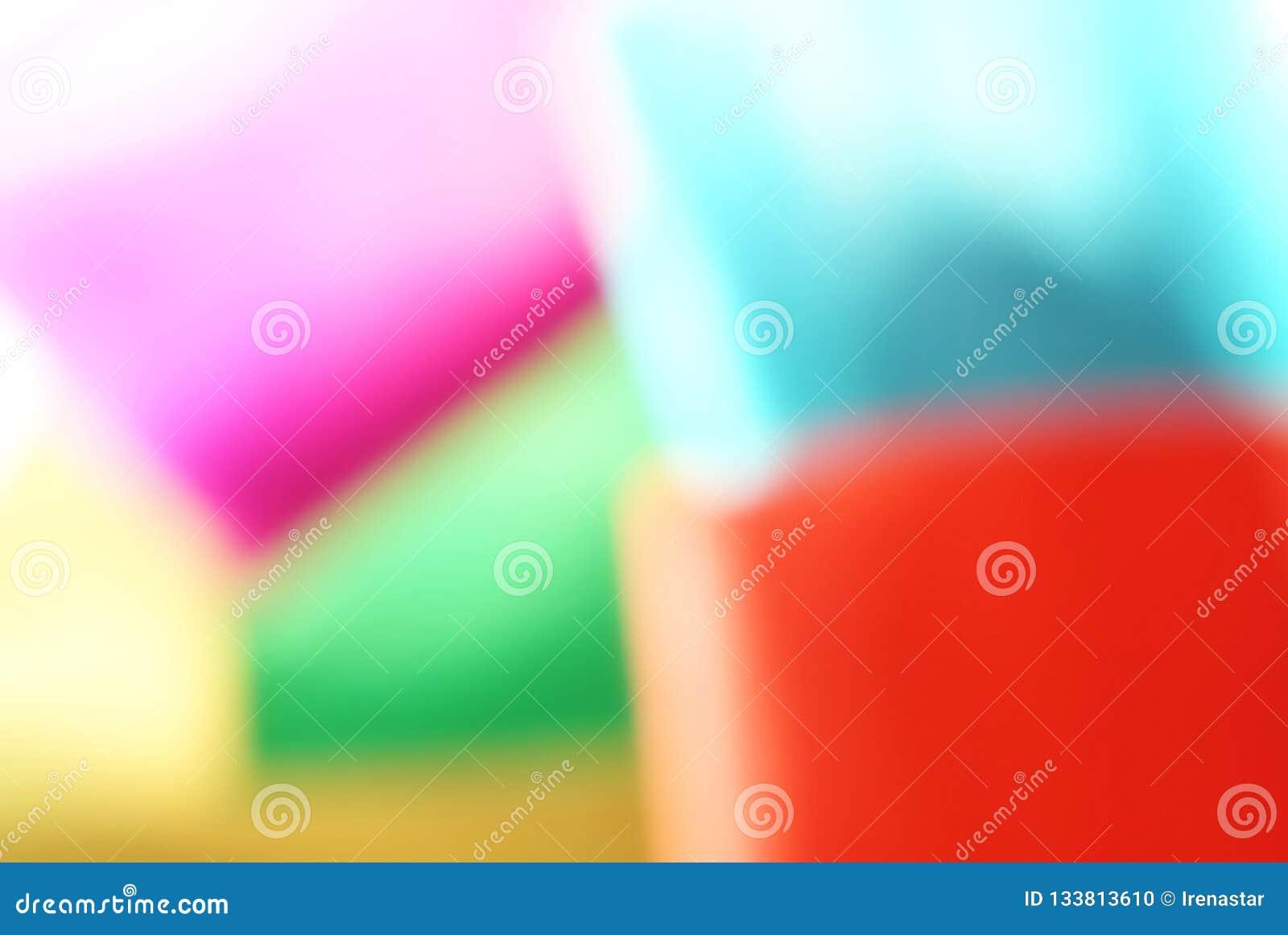 Fondo de papel geométrico blured extracto del efecto defocused Colores de neón de la moda de la tendencia