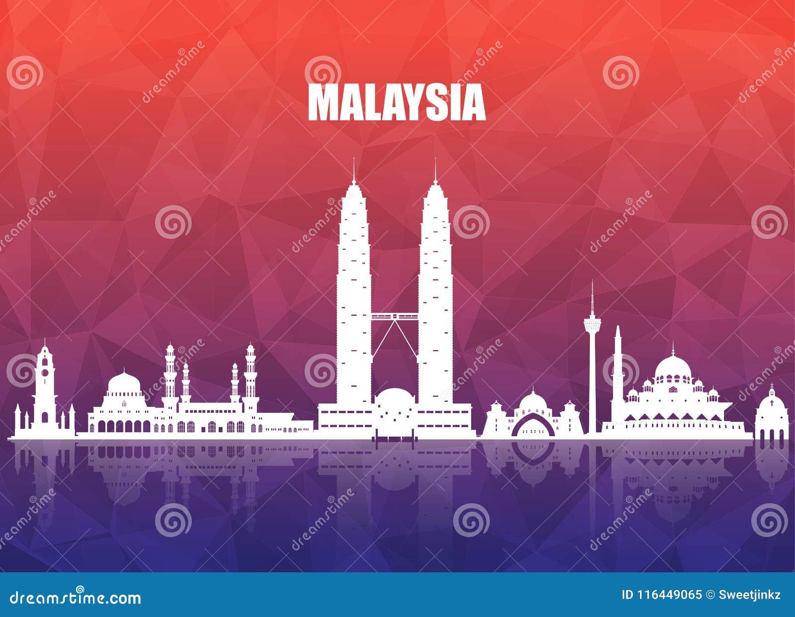 Fondo de papel global del viaje y del viaje de la señal de Malasia VE