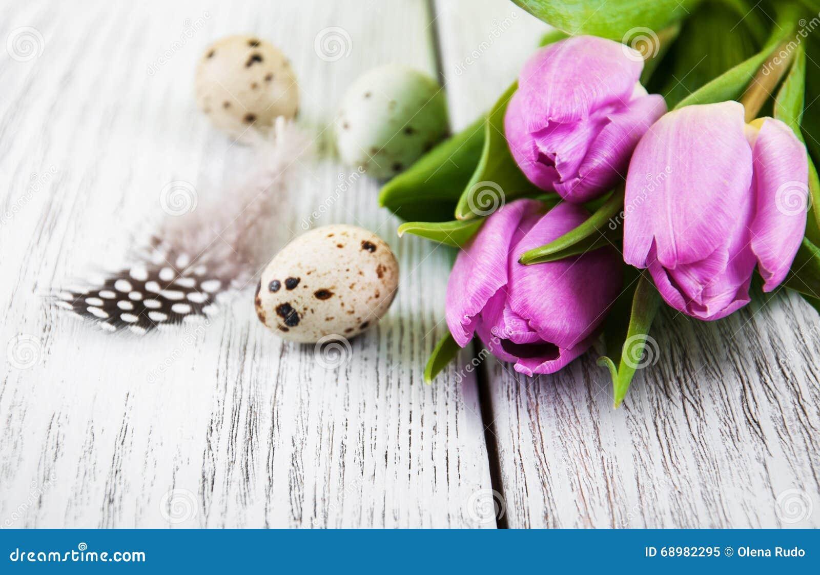 Fondo de Pascua con los huevos