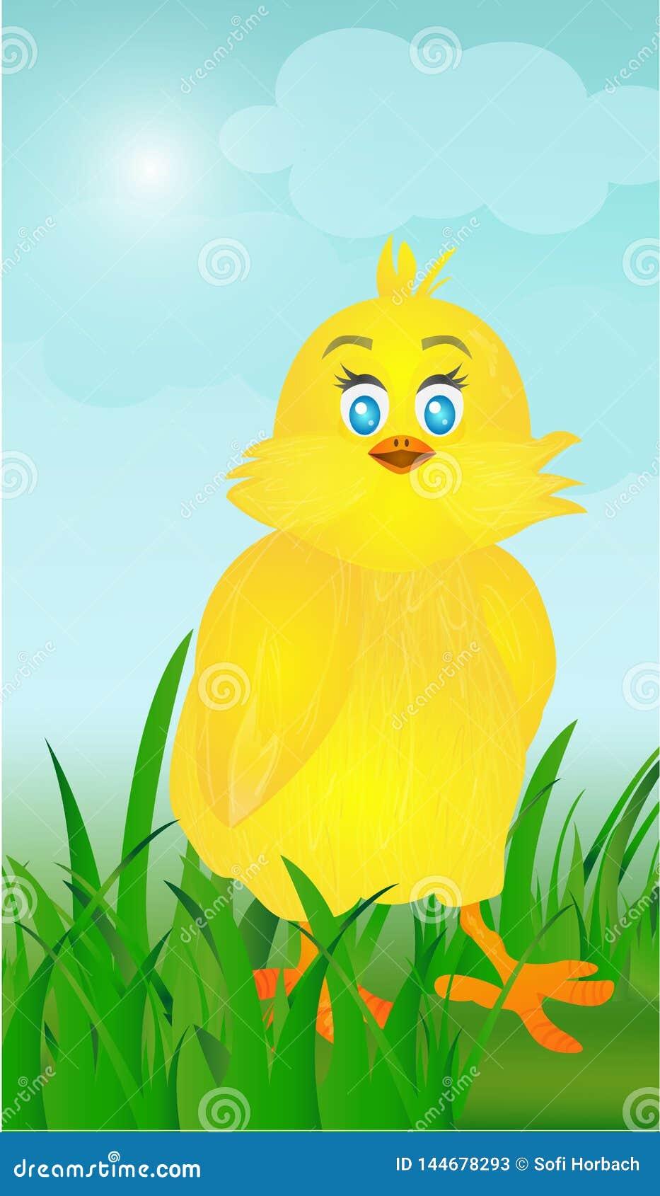 Fondo de Pascua de polluelos lindos