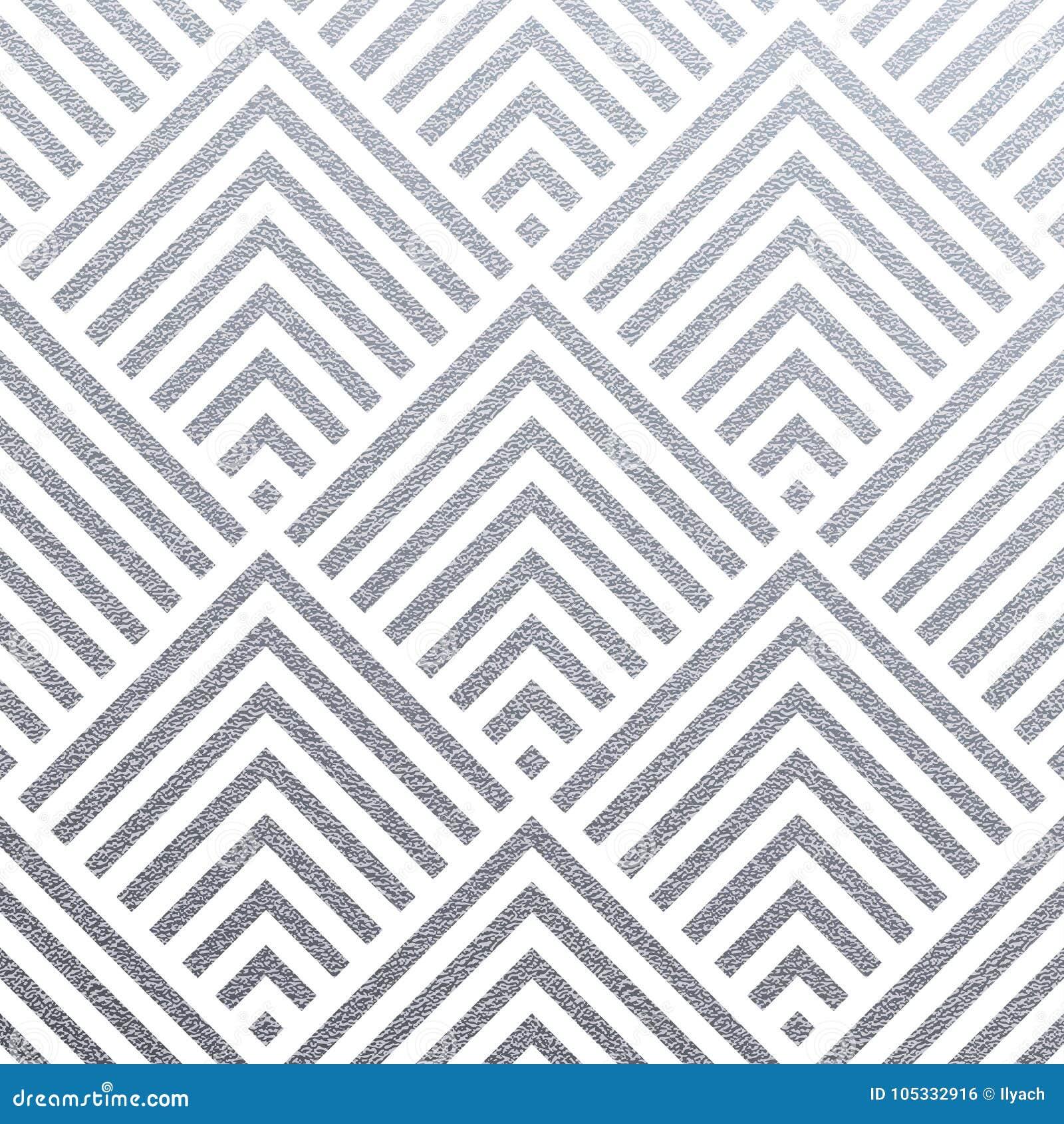 Fondo de plata geométrico abstracto del modelo de las tejas inconsútiles del ornamento de la malla del cuadrado o del triángulo p