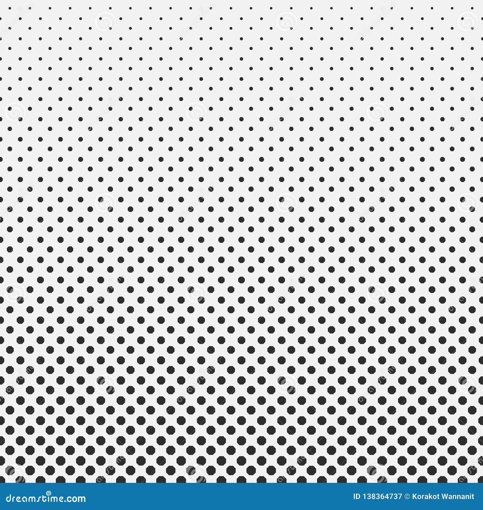 Fondo de semitono del modelo del hexágono del extracto blanco y negro