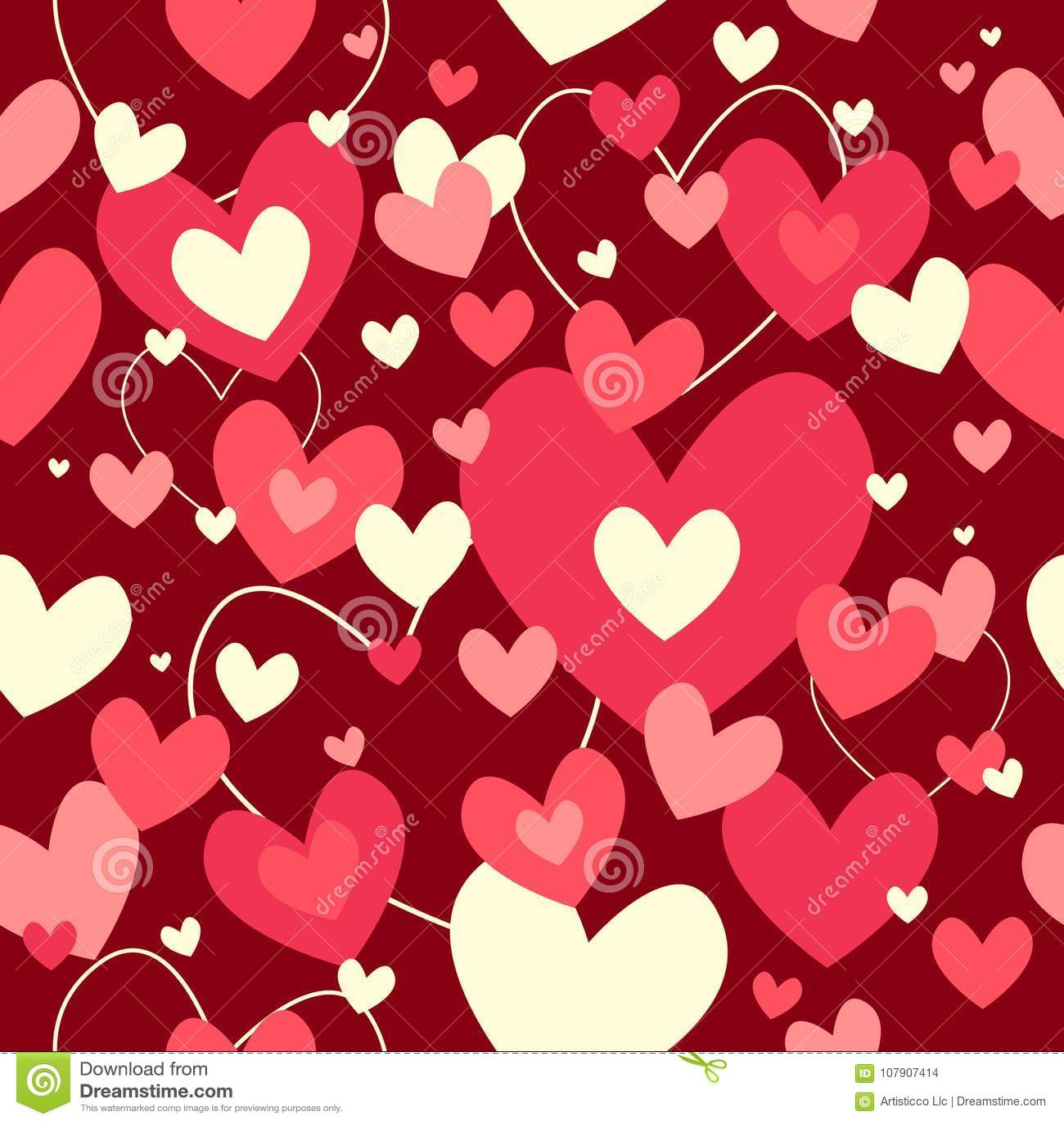 Fondo De Valentine Day Wallpaper Seamless Pattern