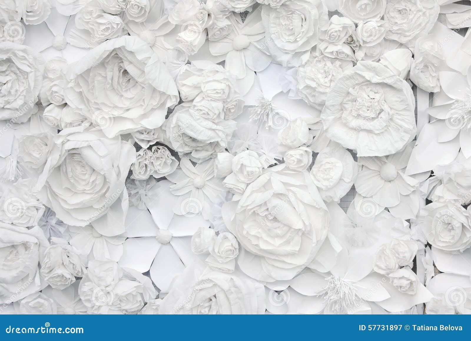 Fondo decorativo de las flores del Libro Blanco