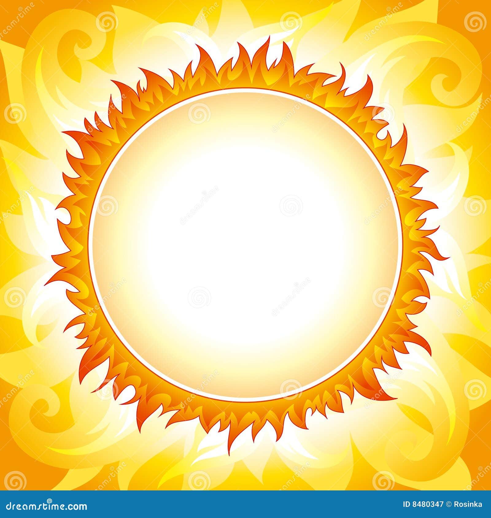 Fondo decorativo del vector del sol ilustraci n del vector for Fondo del sol