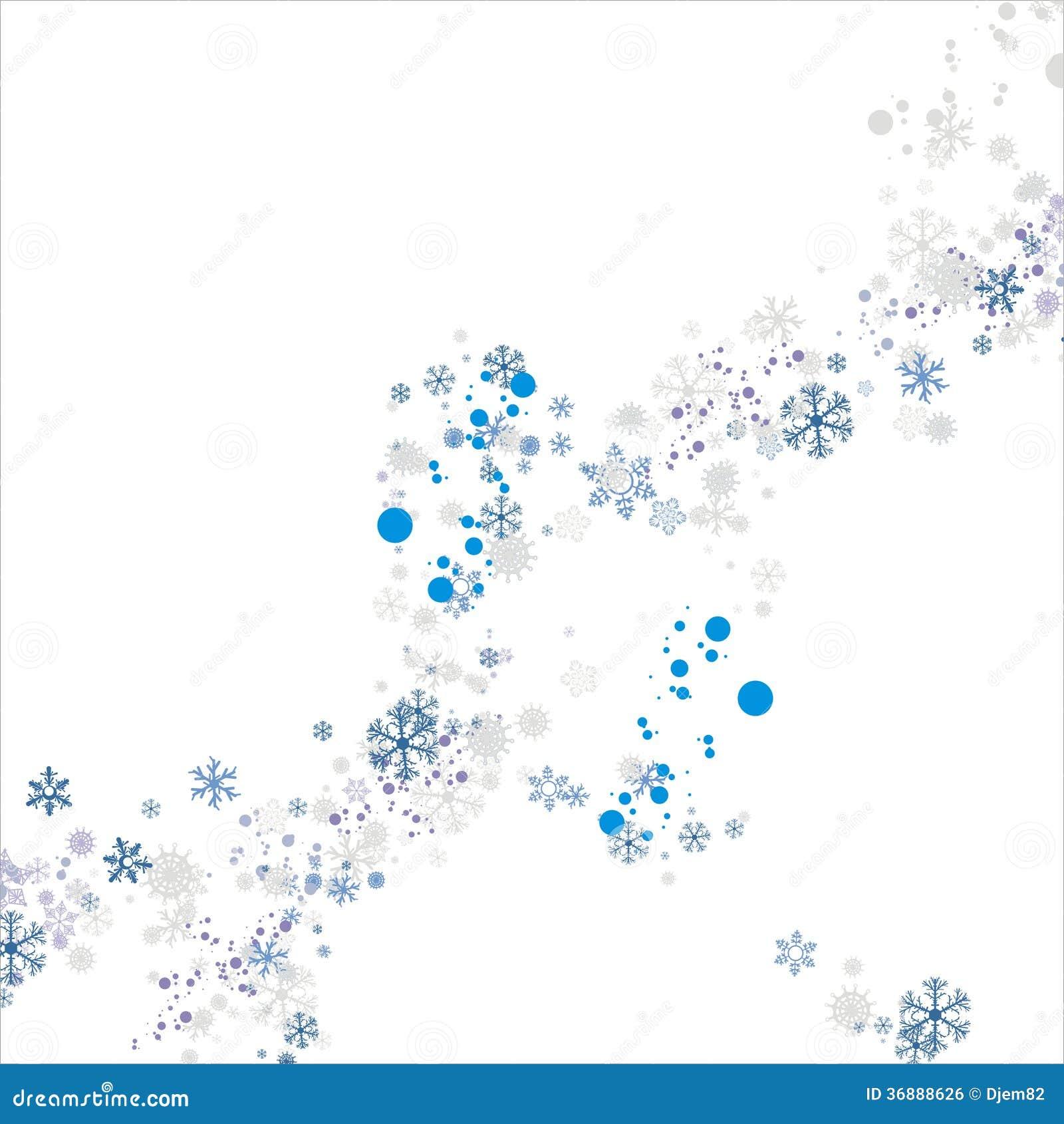 Download Fondo dei fiocchi di neve illustrazione vettoriale. Illustrazione di stagione - 36888626