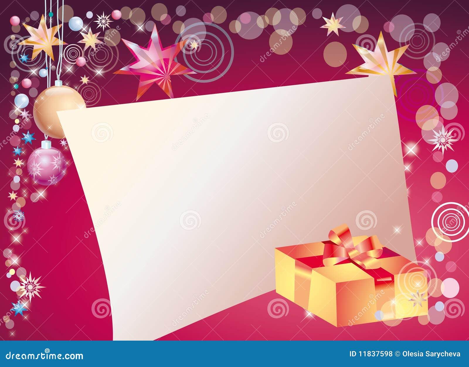 Fondo Del Año Nuevo Con El Campo Para La Carta Stock De Ilustración