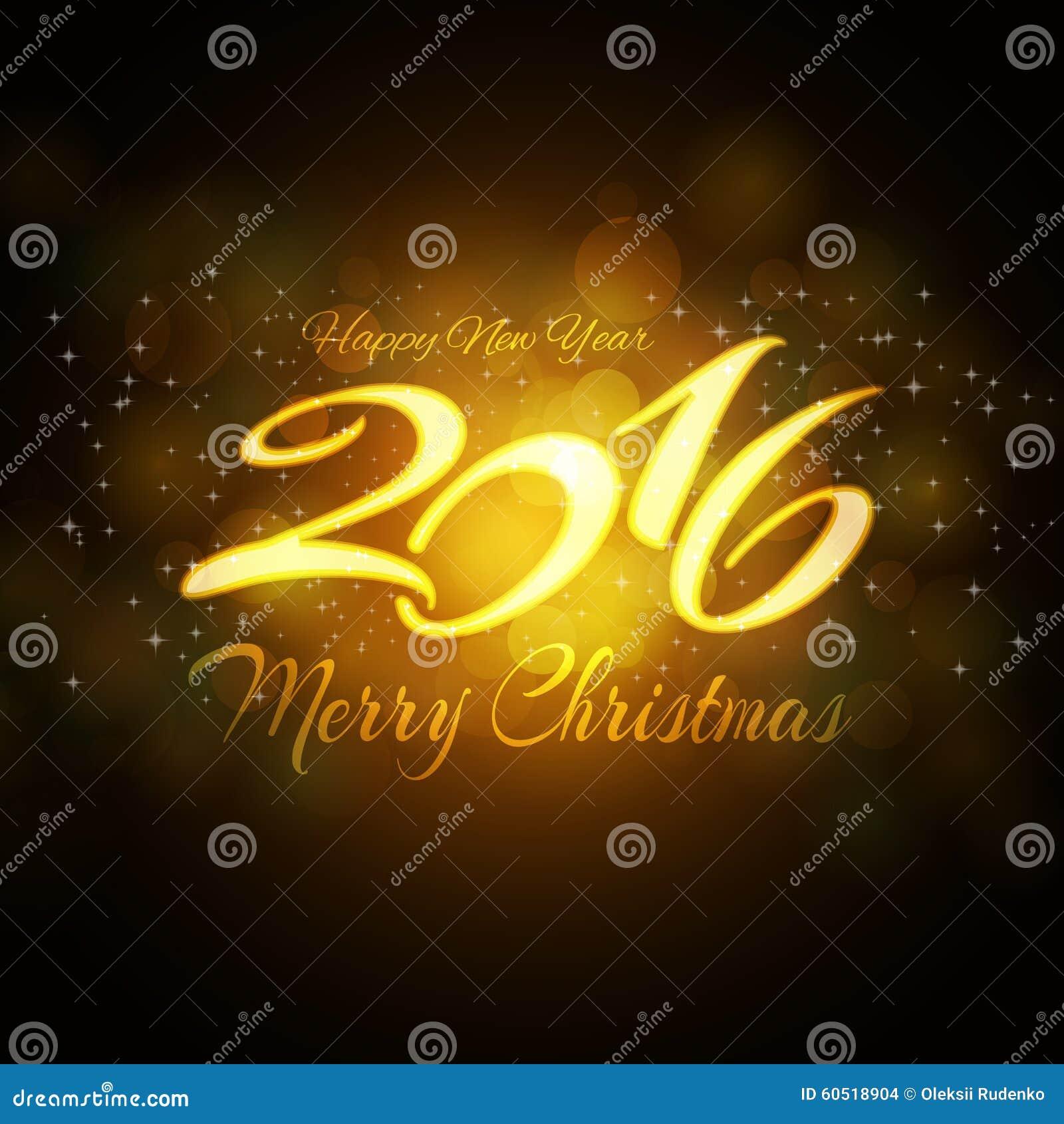 Fondo Del Año Nuevo 2016 Para Su Invitación O Tarjeta De
