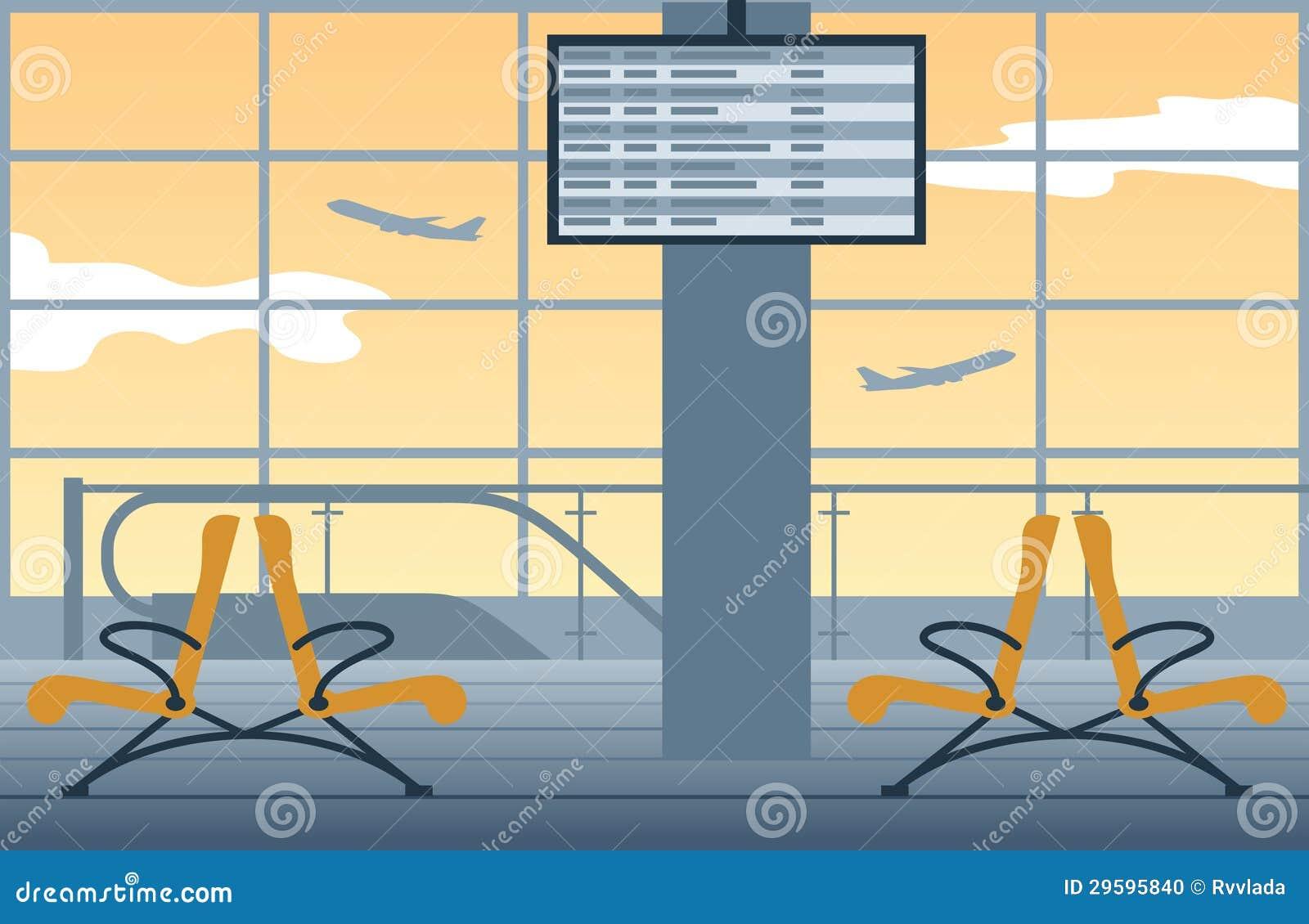 Fondo del aeropuerto