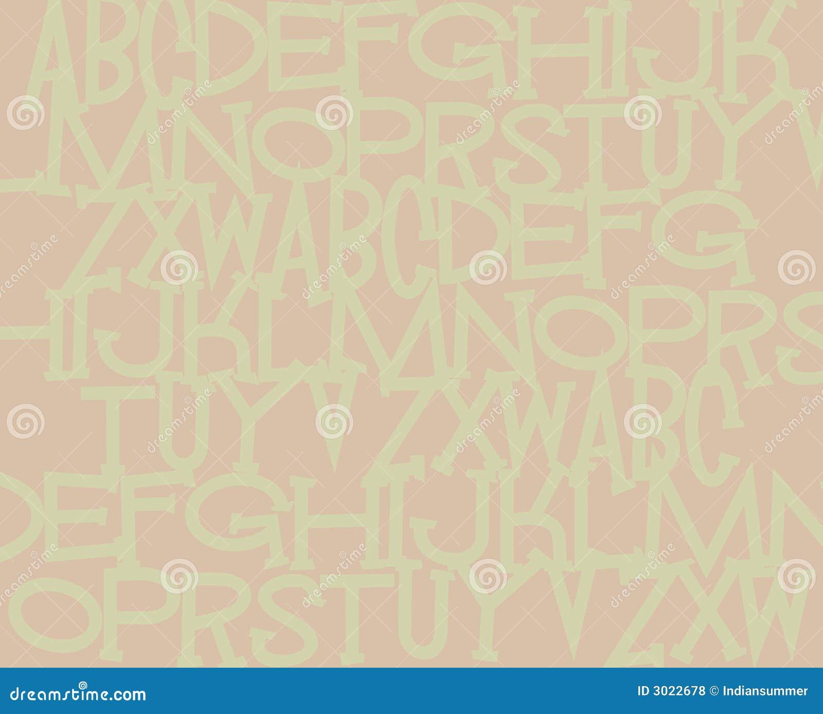 Fondo del alfabeto