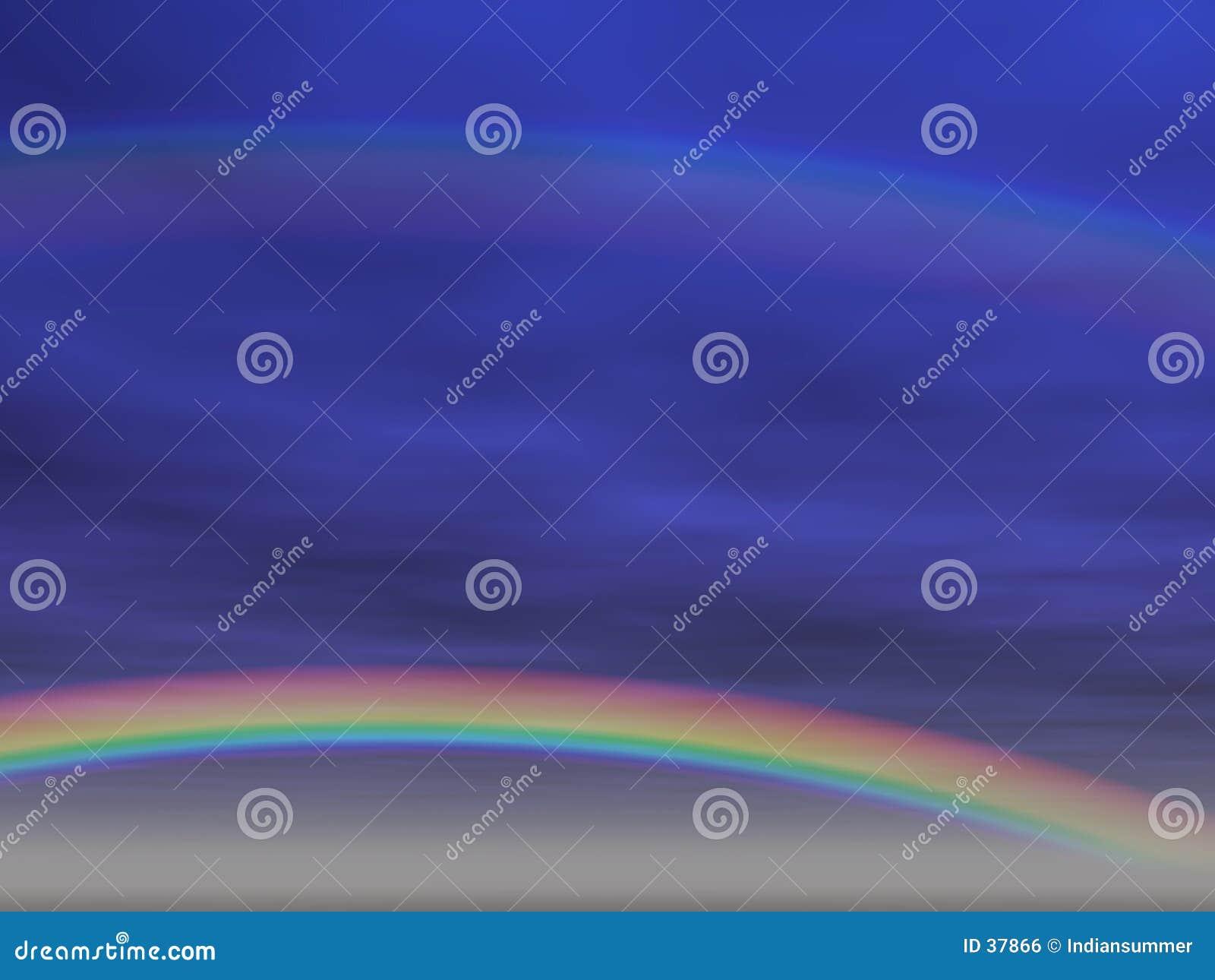 Download Fondo del arco iris [2] stock de ilustración. Ilustración de rainbow - 37866