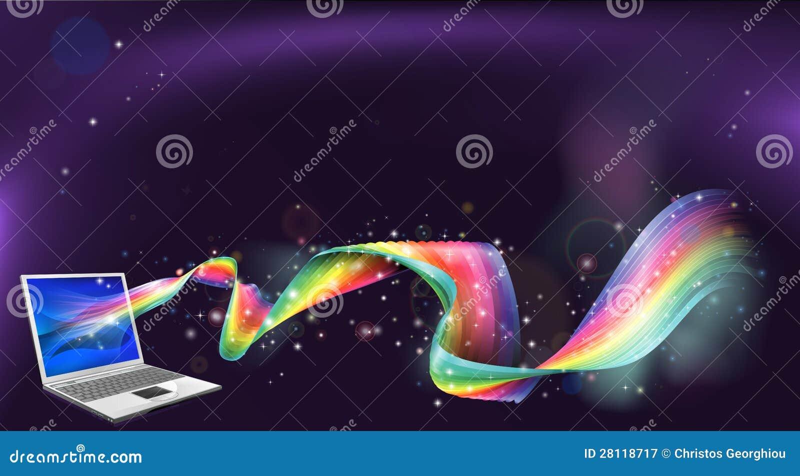 Fondo del arco iris de la computadora port til fotograf a for Fondos de computadora