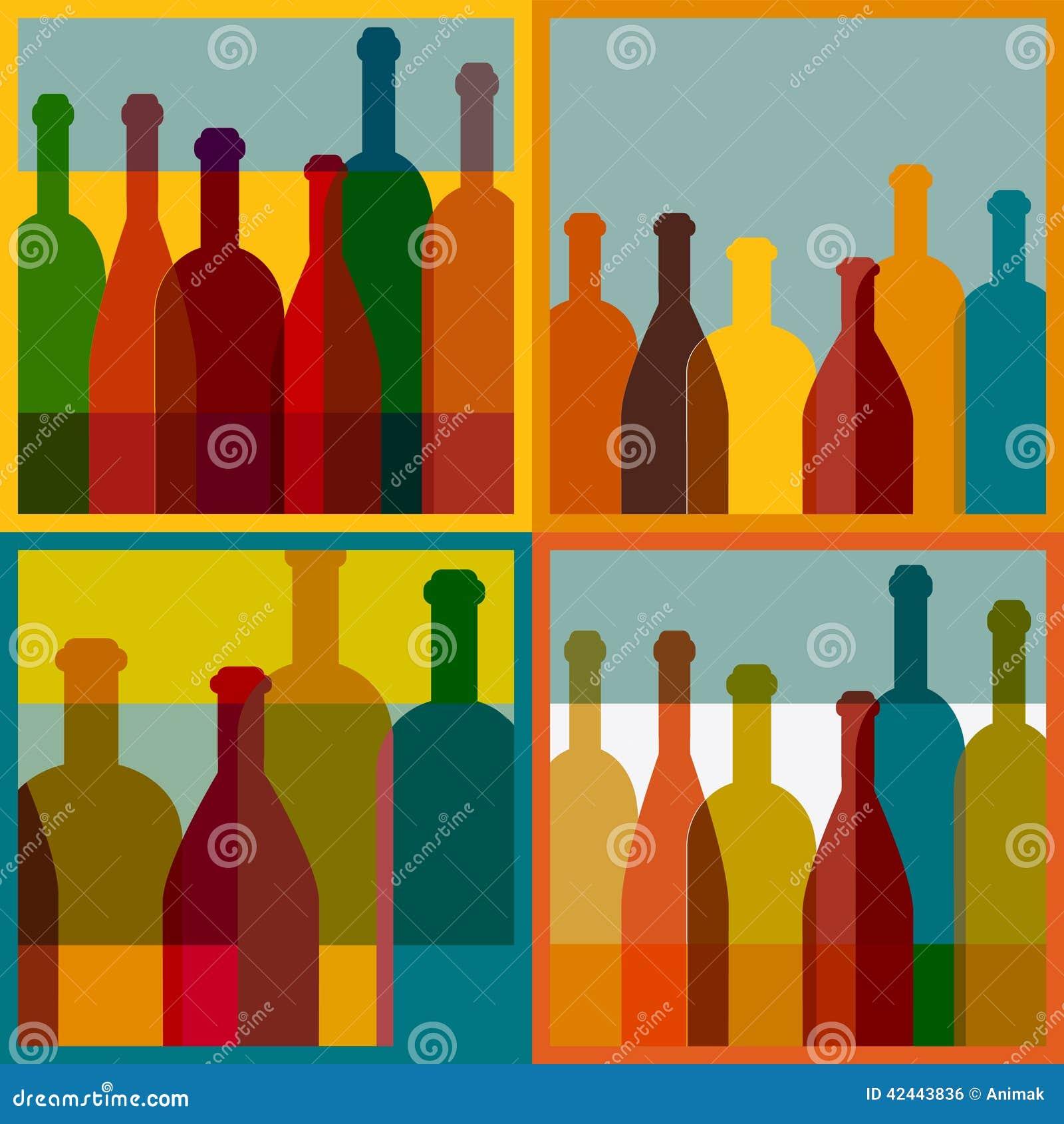 Fondo del arte Concepto del restaurante del vino