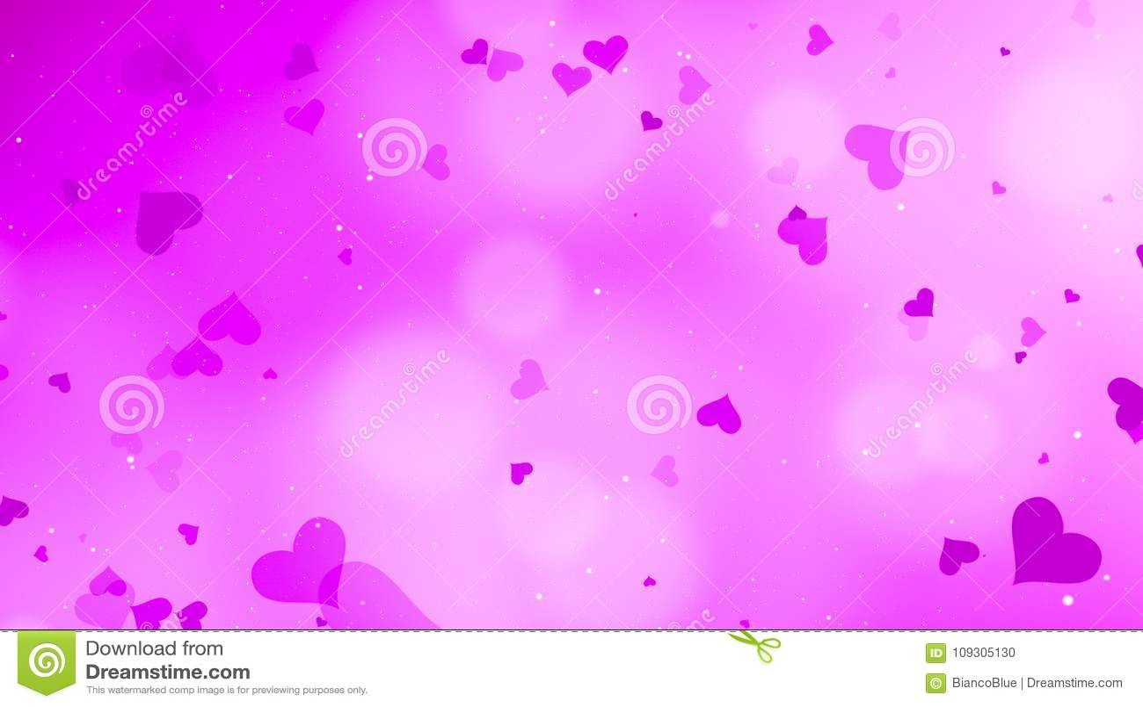 Fondo del bokeh de la tarjeta del día de San Valentín