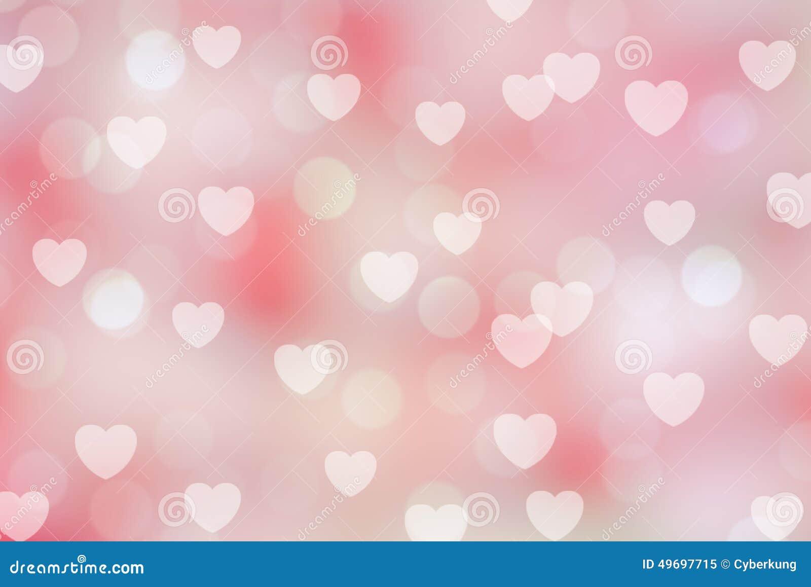 Fondo del bokeh del biglietto di S. Valentino