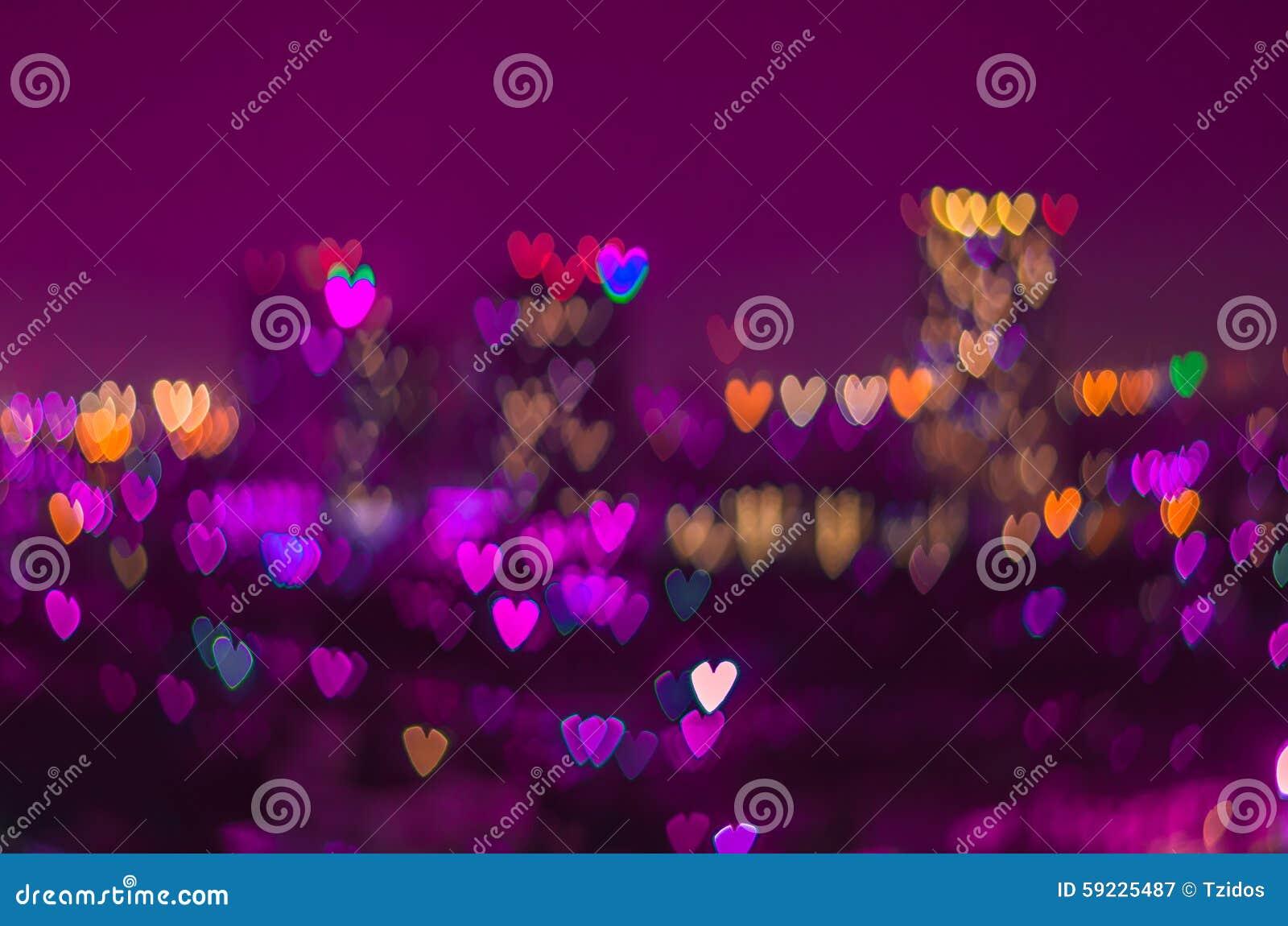 Download Fondo Del Bokeh Del Corazón, Concepto Del Amor Imagen de archivo - Imagen de celebración, cityscape: 59225487