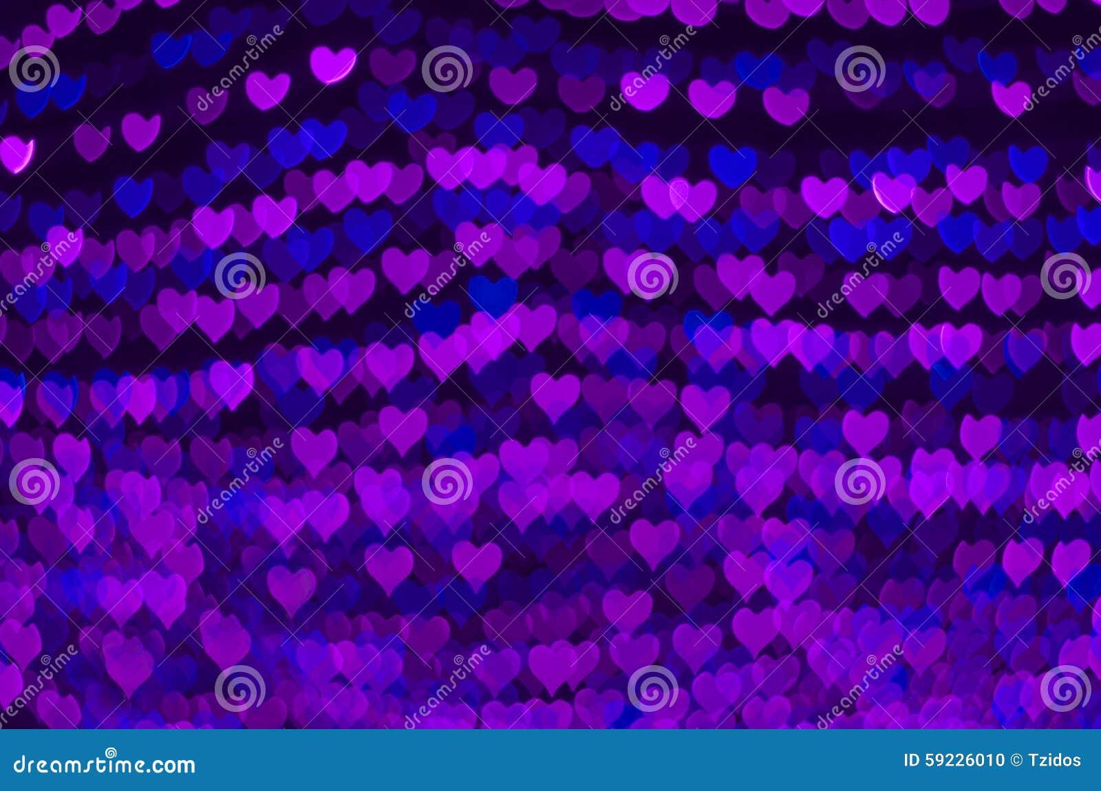 Fondo del bokeh del corazón, concepto del amor