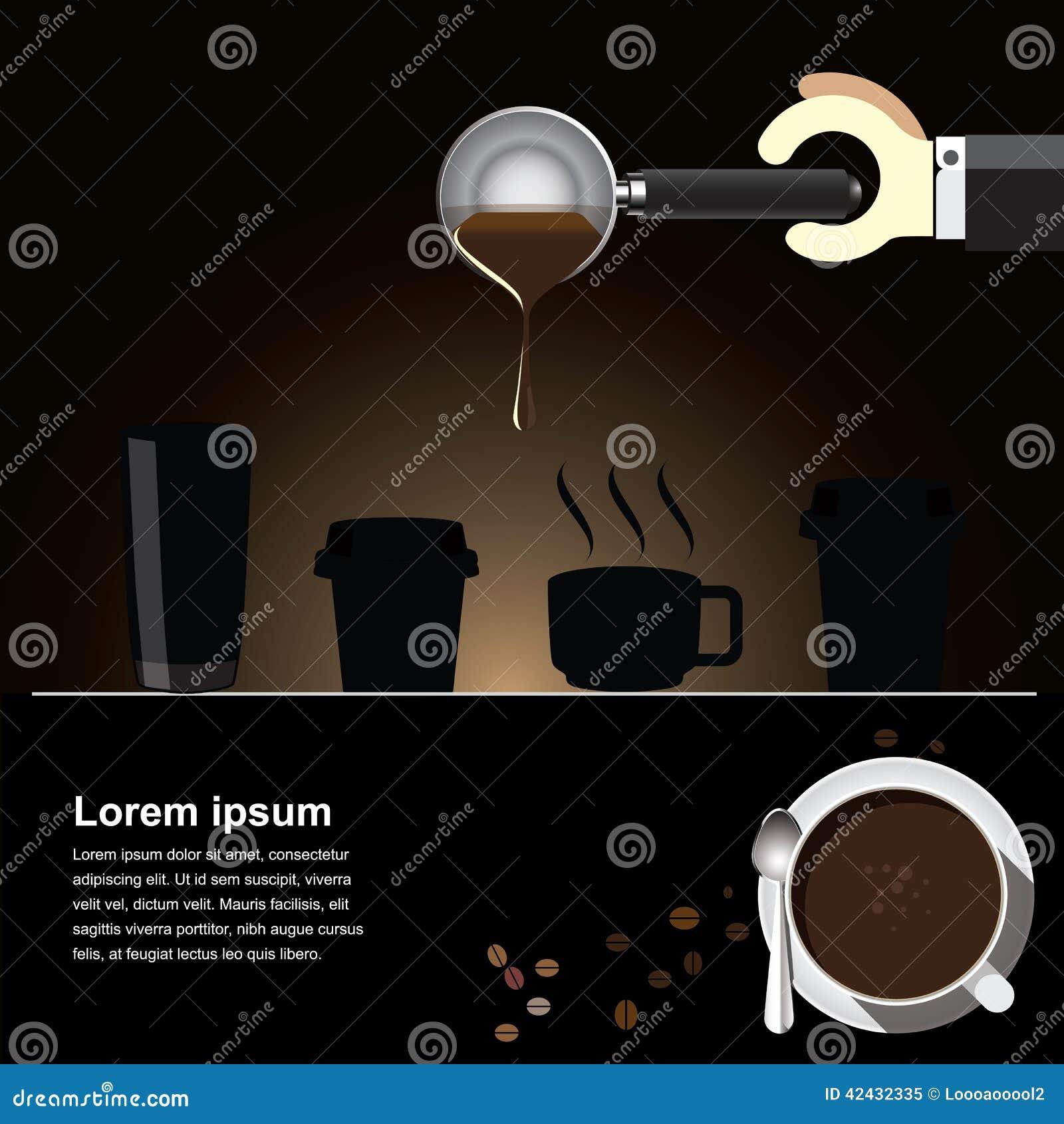 Fondo del brebaje del café