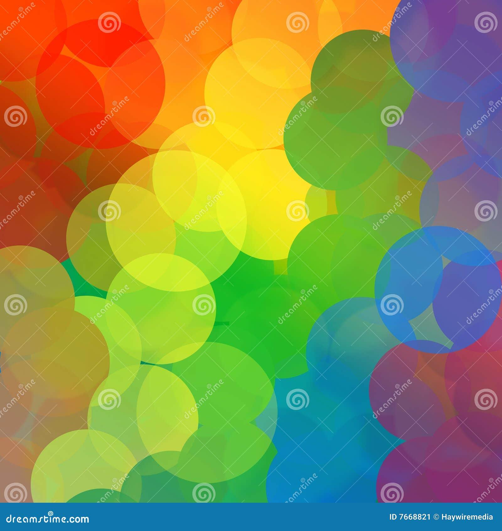 Fondo del círculo del punto del arco iris