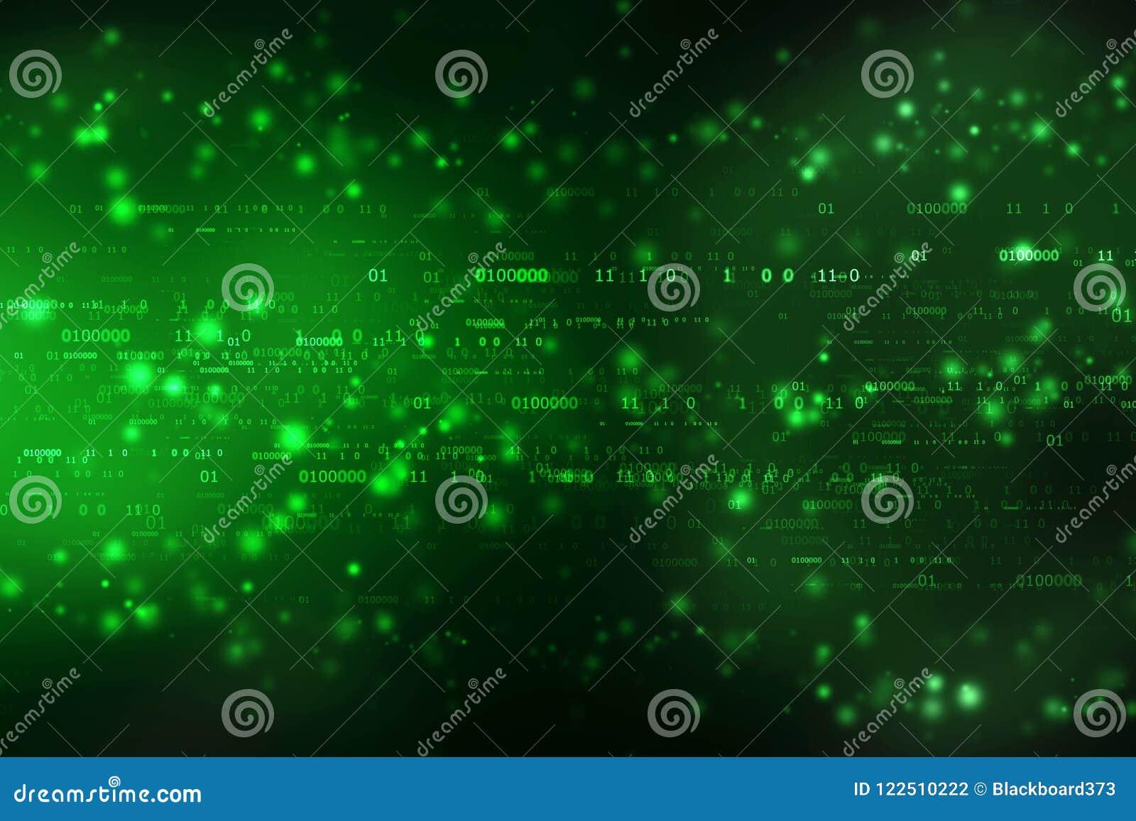 Fondo del código binario, fondo abstracto de la tecnología de Digitaces