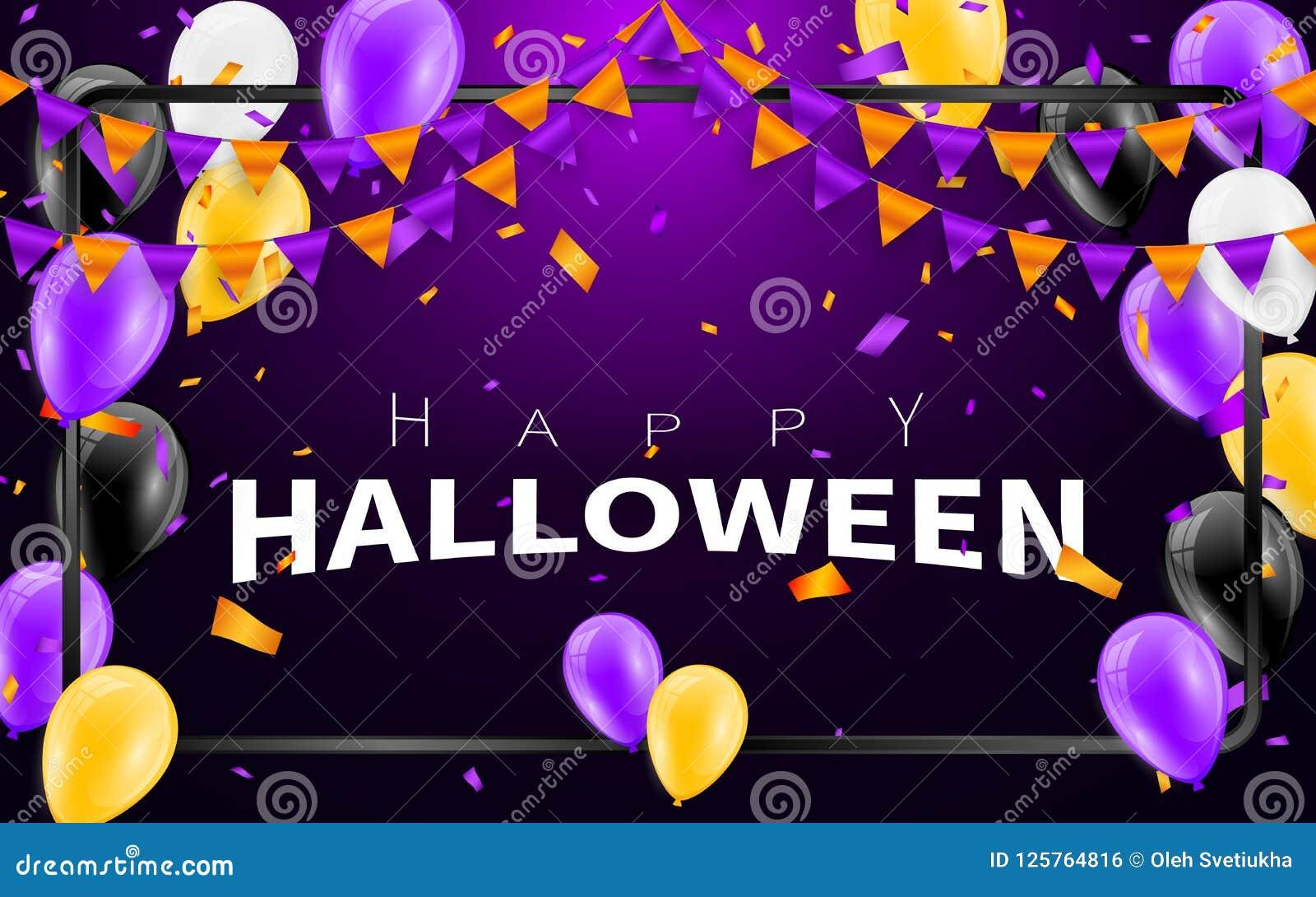 Fondo Del Carnaval Del Feliz Halloween La Púrpura Anaranjada Señala ...