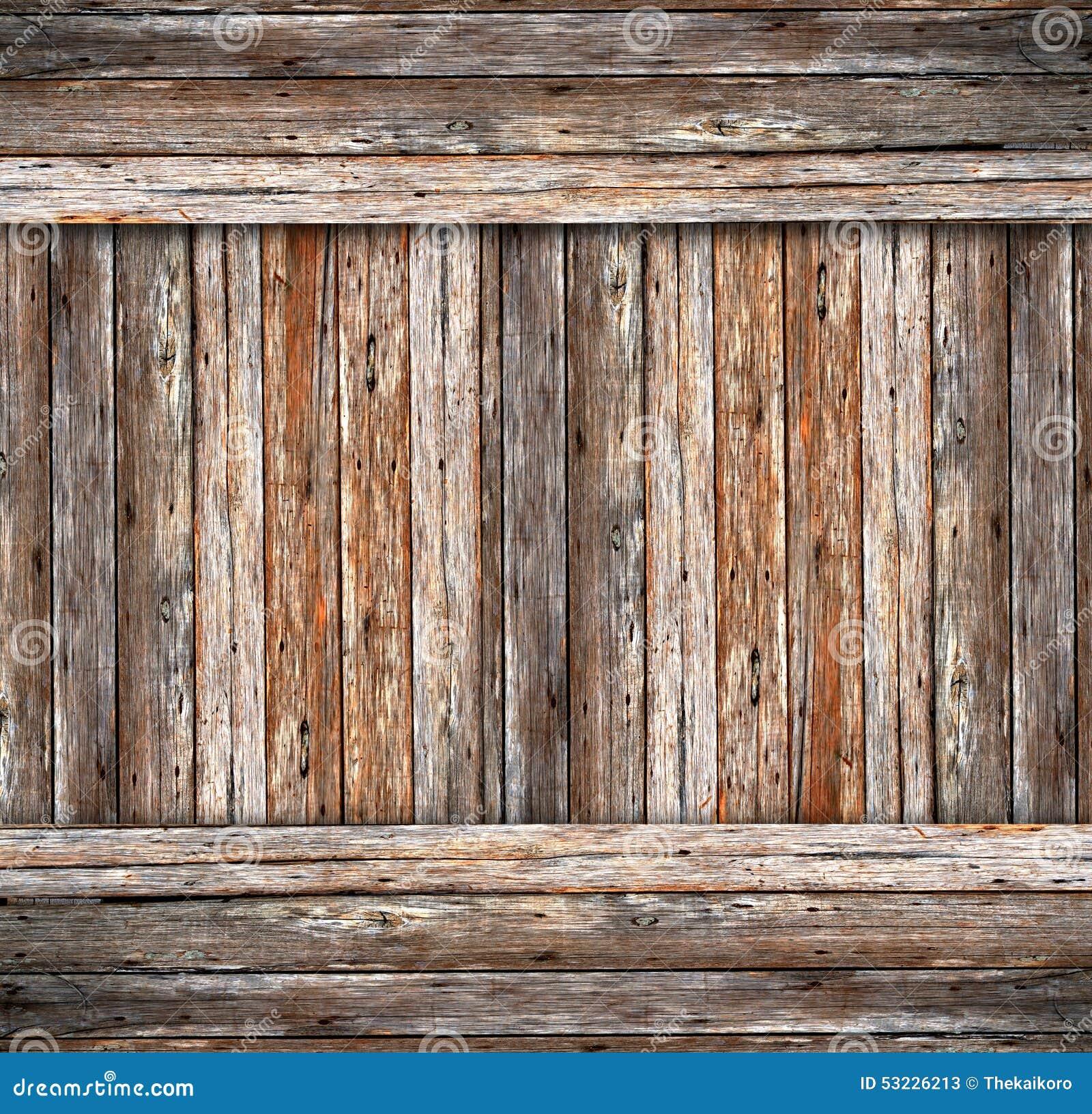 Fondo del cemento de madera y de la grieta