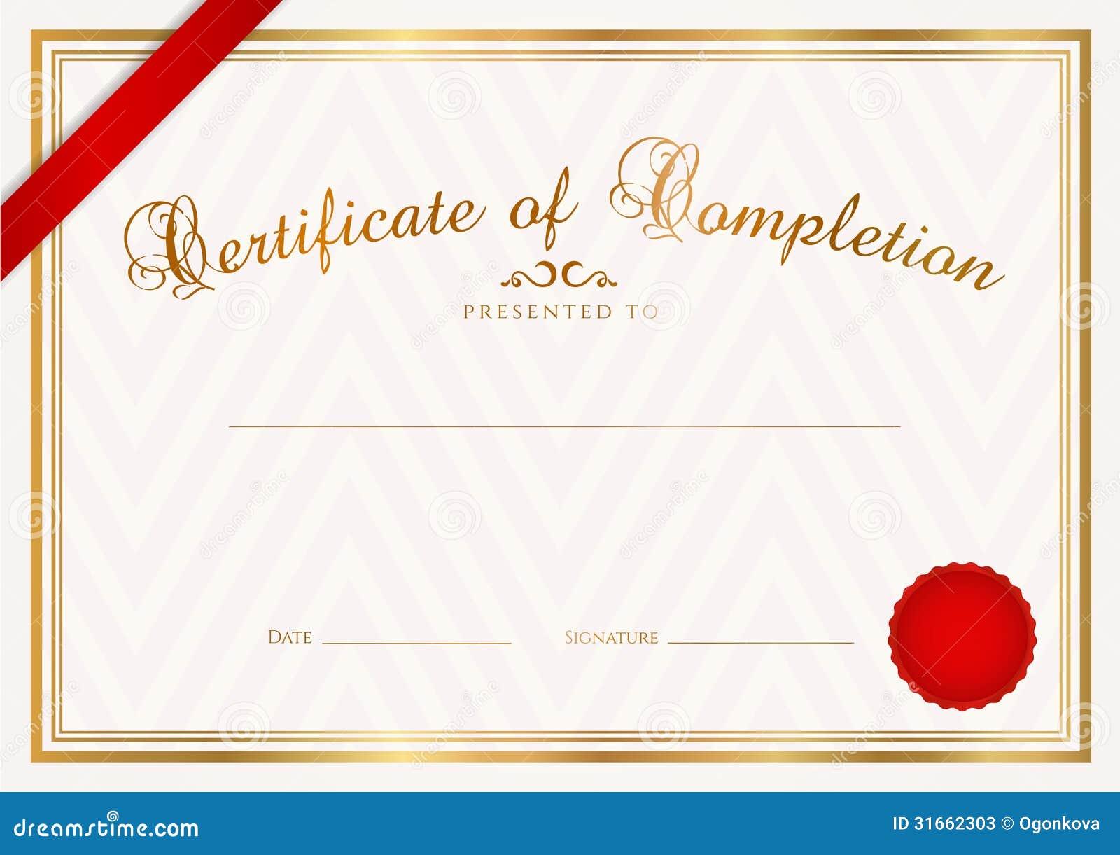 Fondo Del Certificado/del Diploma (plantilla) Fotos de archivo ...