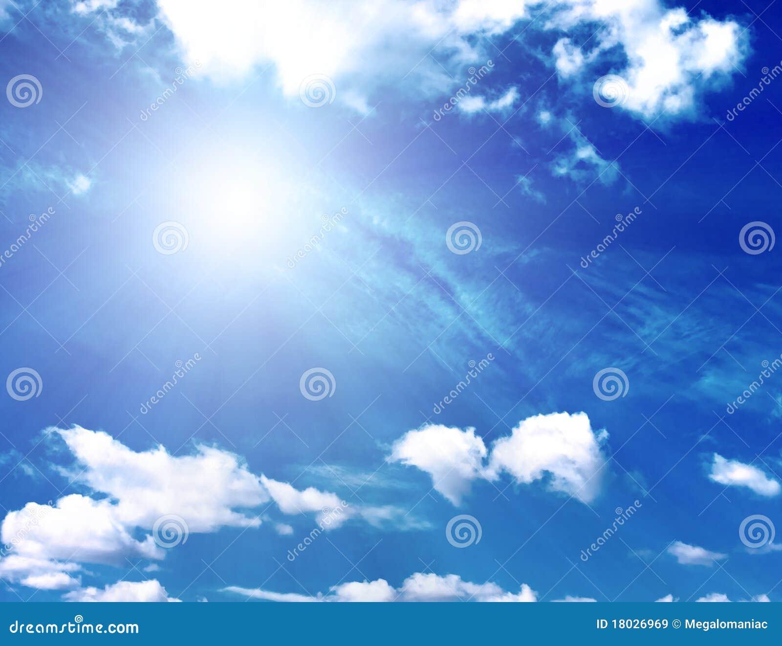 Fondo del cielo azul y del sol im genes de archivo libres for Fondo del sol