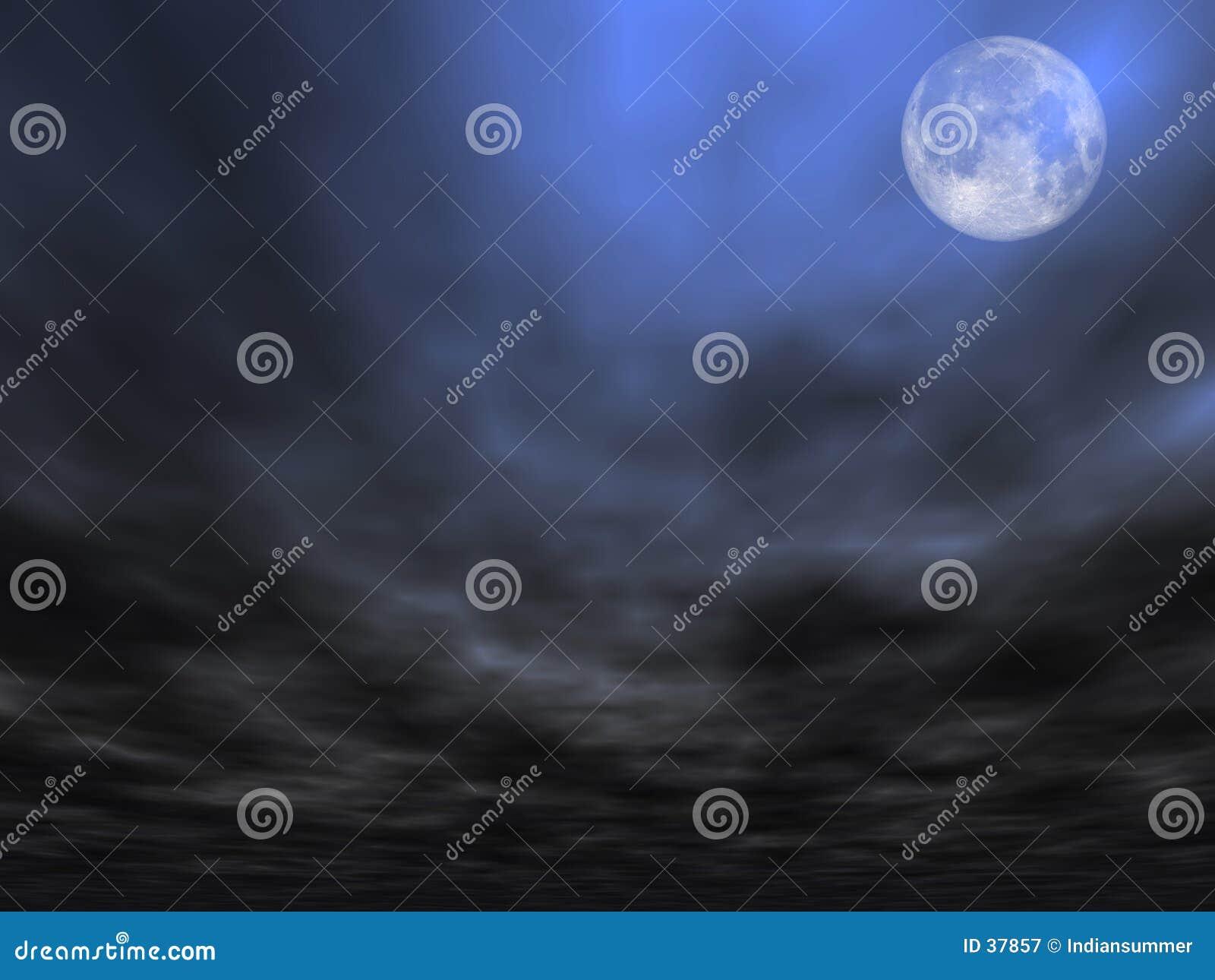 Fondo del cielo con la luna [2]