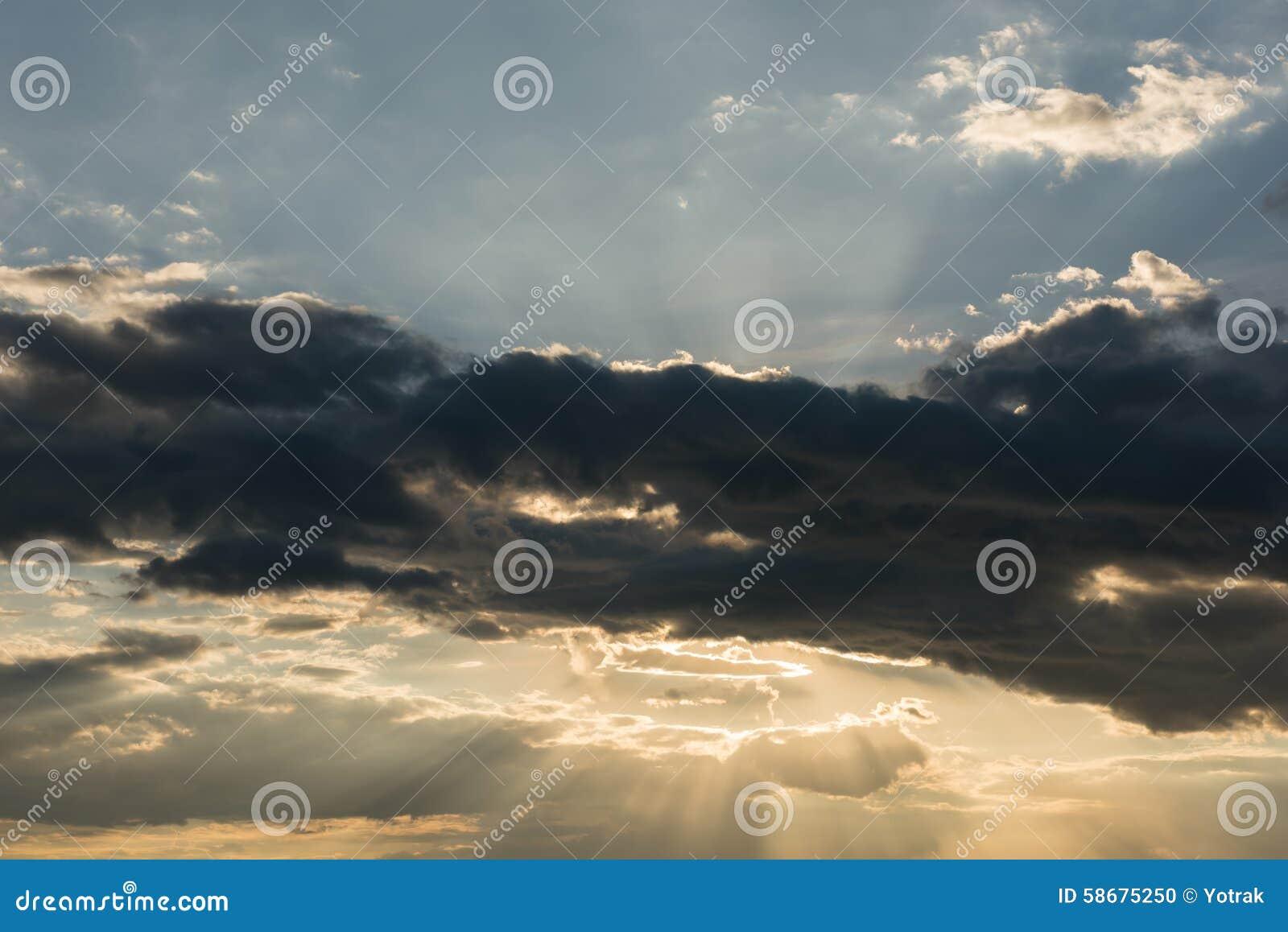 Fondo del cielo de la puesta del sol foto de archivo for Fondo del sol