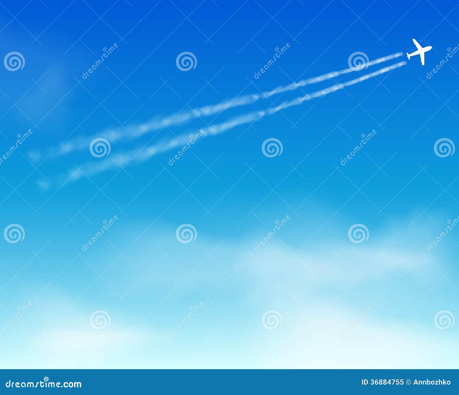 Download Fondo Del Cielo. Nuvola. Aeroplano Illustrazione Vettoriale - Illustrazione di commerciale, fresco: 36884755