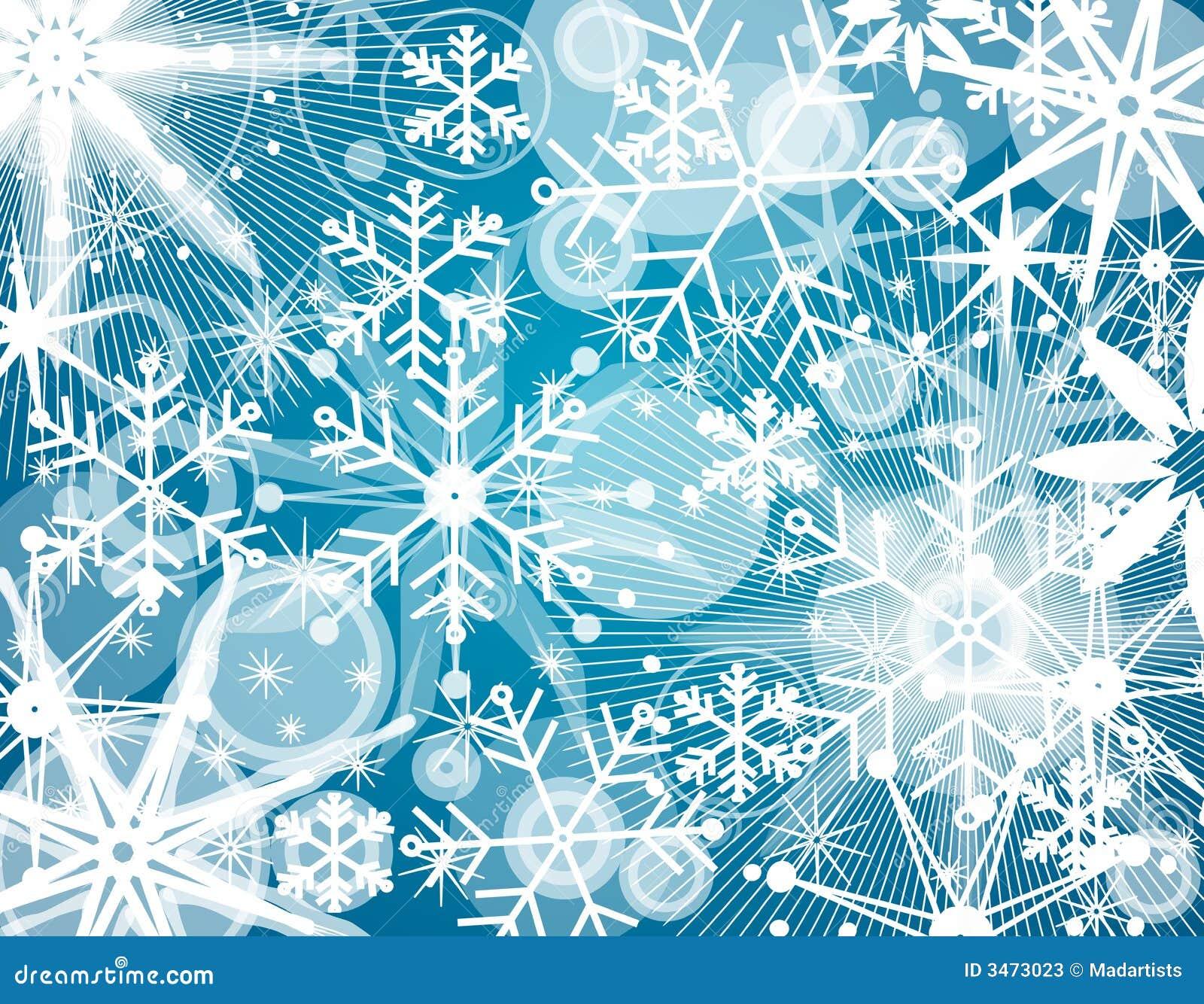 Fondo del collage del copo de nieve