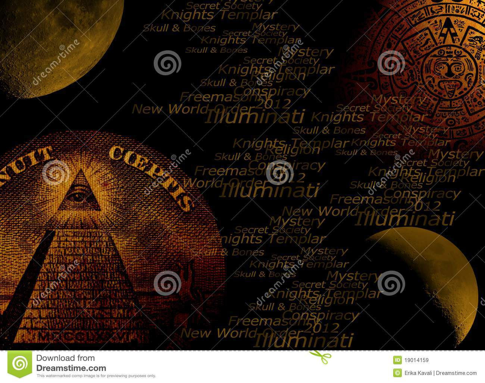 Fondo del concepto de Illuminati
