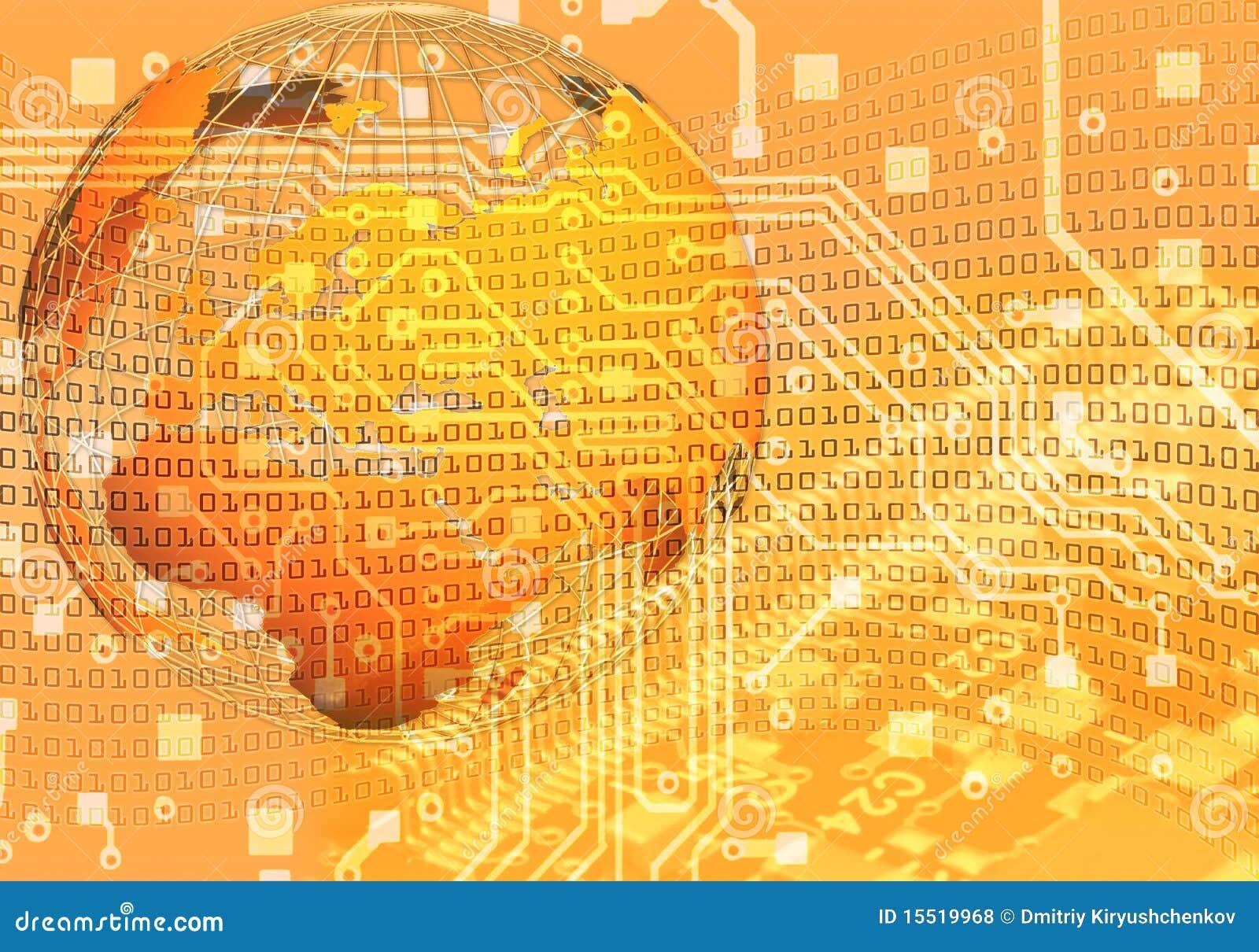 Fondo del concepto de la nueva tecnología