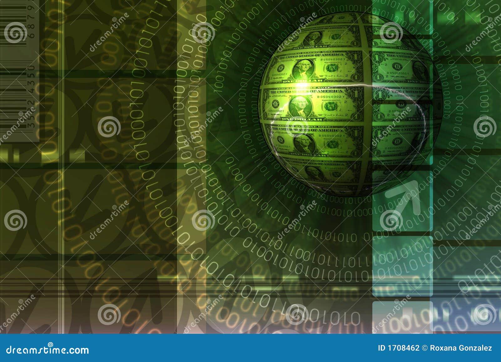 Fondo del concepto del comercio electrónico - verde