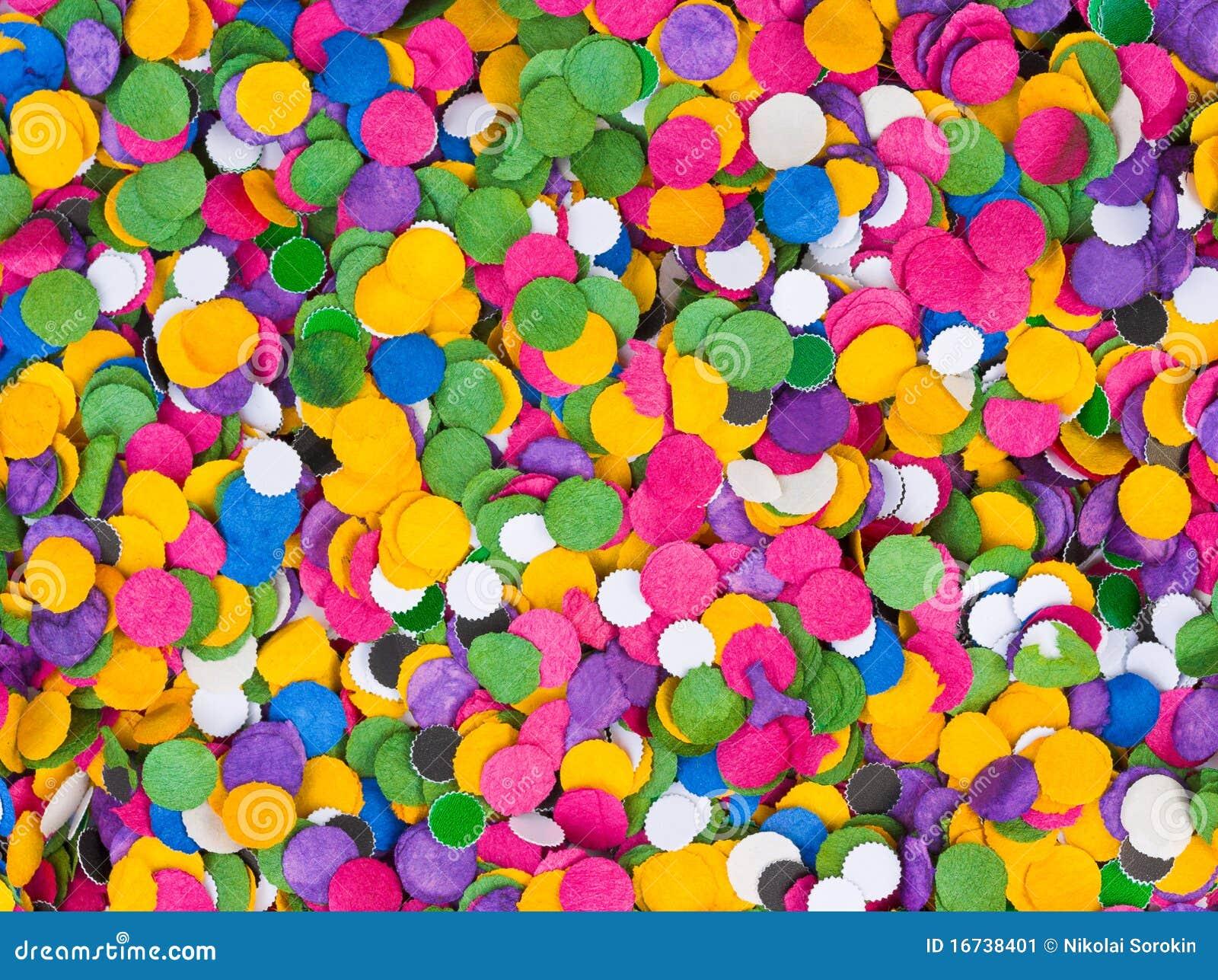 Fondo De Fiesta Diseño Decoracion Confeti Arte Patrón: Fondo Del Confeti Imagen De Archivo. Imagen De Círculo