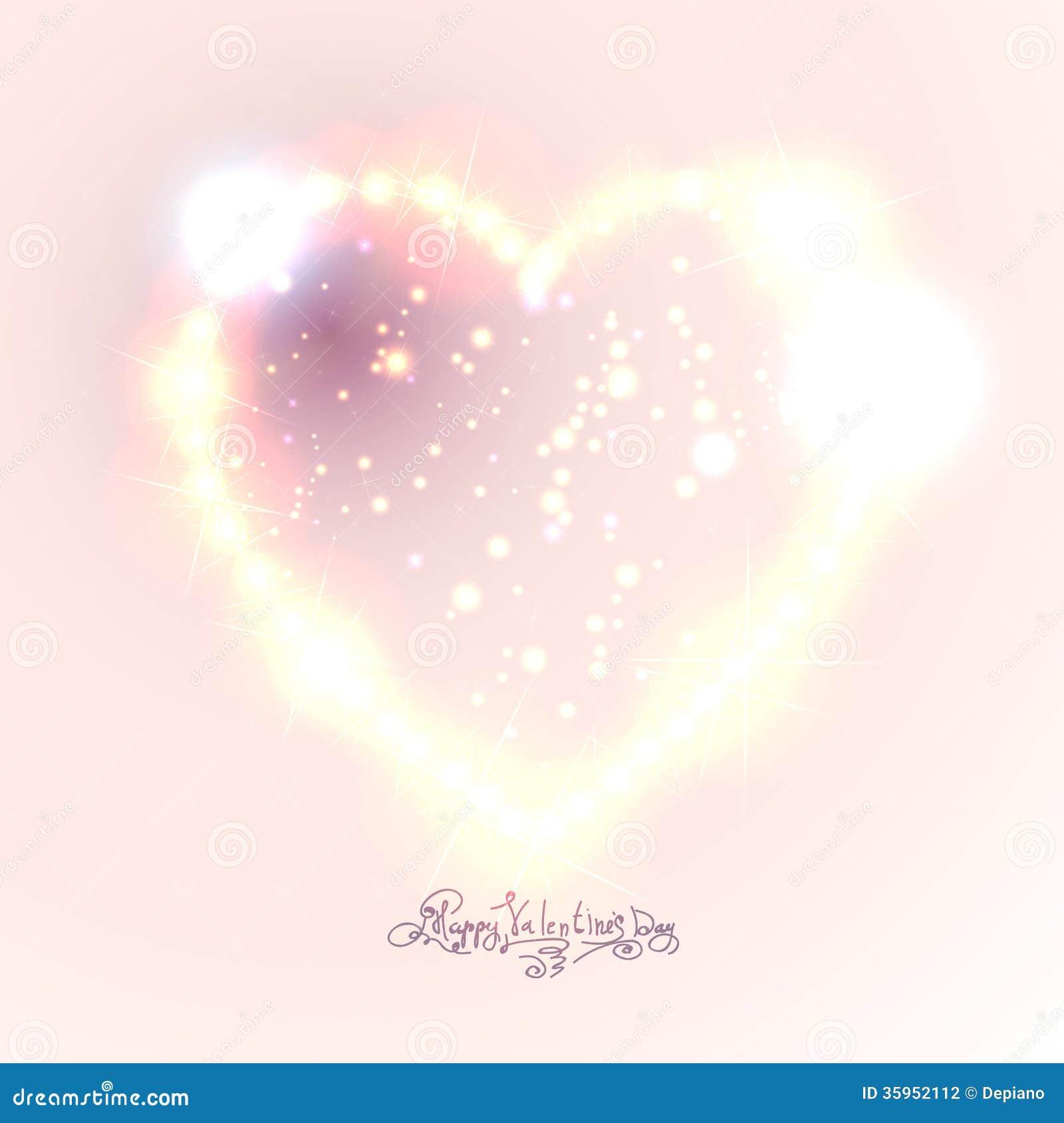 Fondo del corazón del amor de las estrellas brillantes hermosas