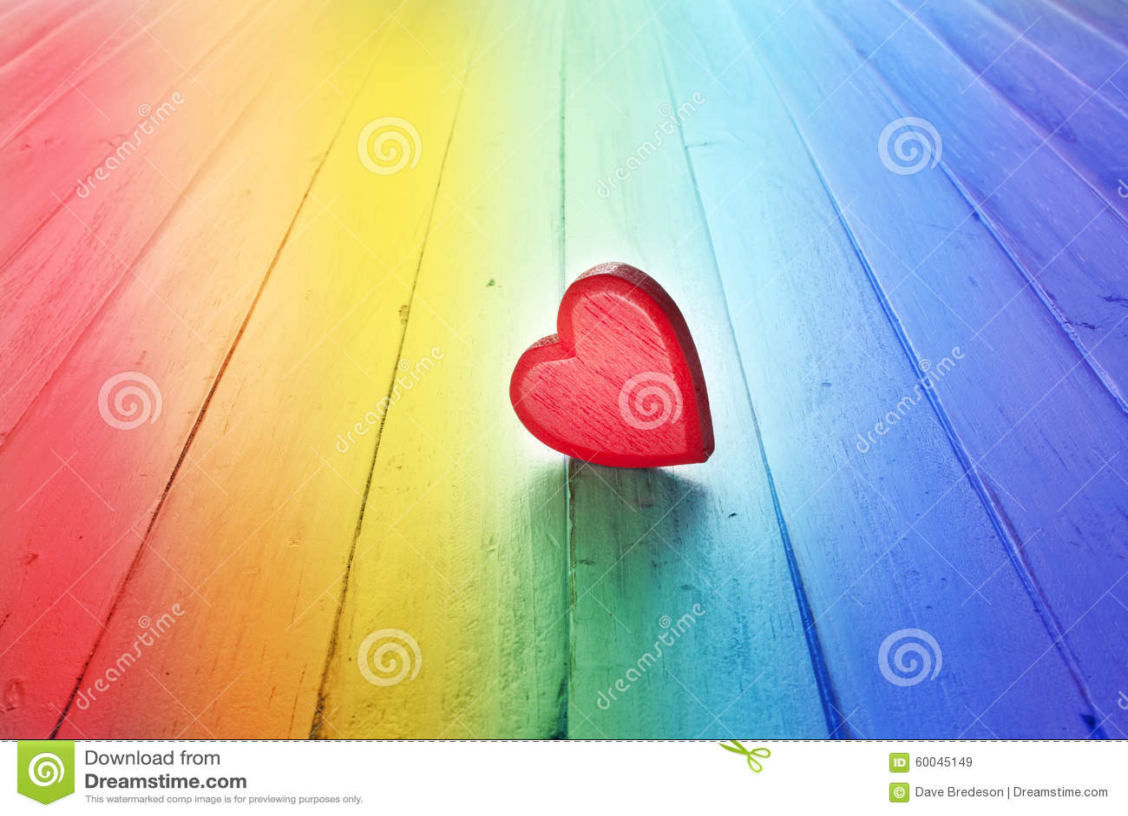 Fondo del corazón del amor del arco iris
