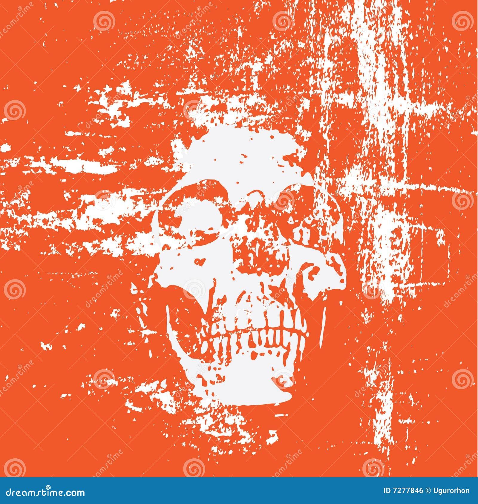 Fondo del cráneo de Grunge