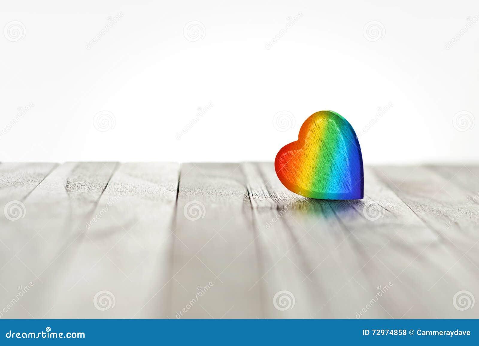 Fondo del cuore dell arcobaleno di amore