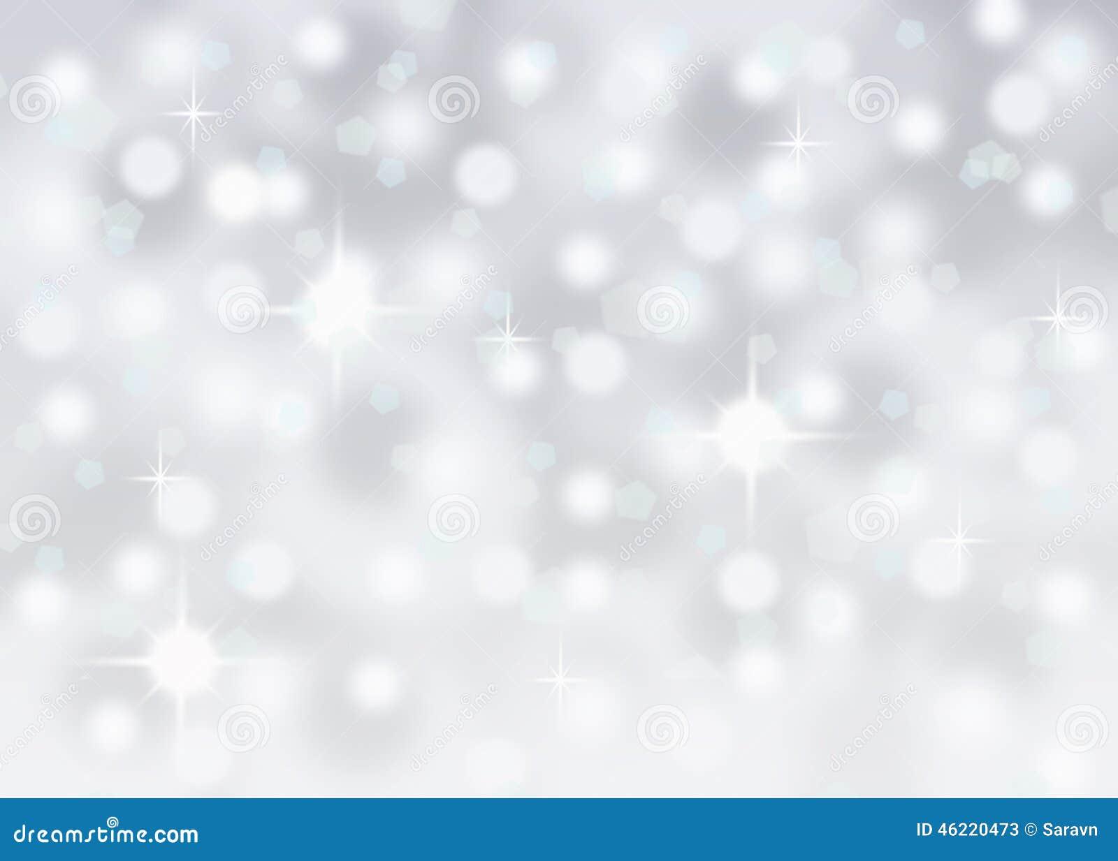 Fondo del día de fiesta de la Navidad del invierno de la nieve abstracta de plata del bokeh que cae