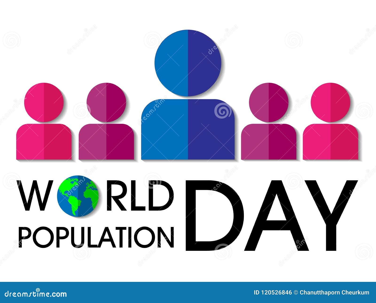 Fondo del día de la población de mundo